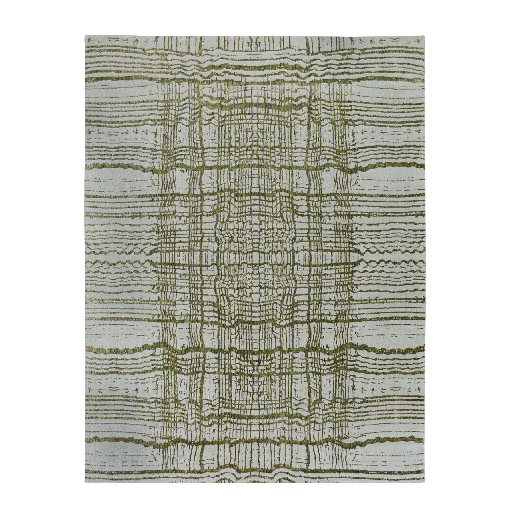 Mid Century Modern Collection Hand Loomed Grey Rug No: 01116252