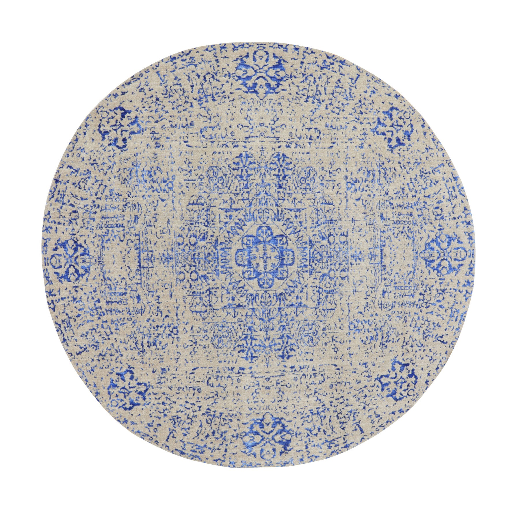 Intricate Collection Hand Loomed Blue Rug No: 01116236