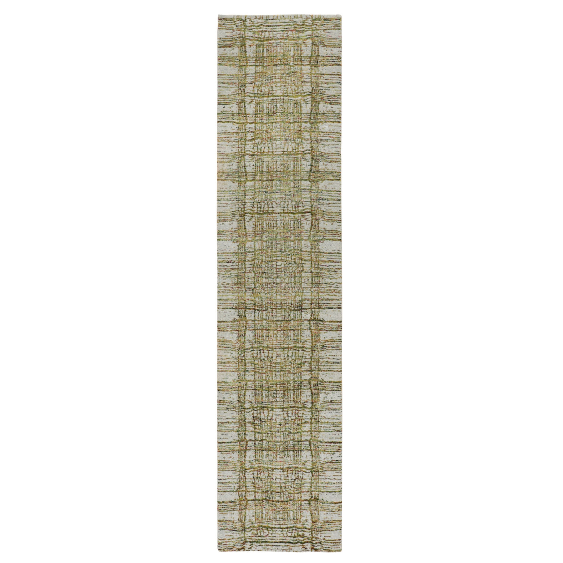 Mid Century Modern Collection Hand Loomed Grey Rug No: 01116230