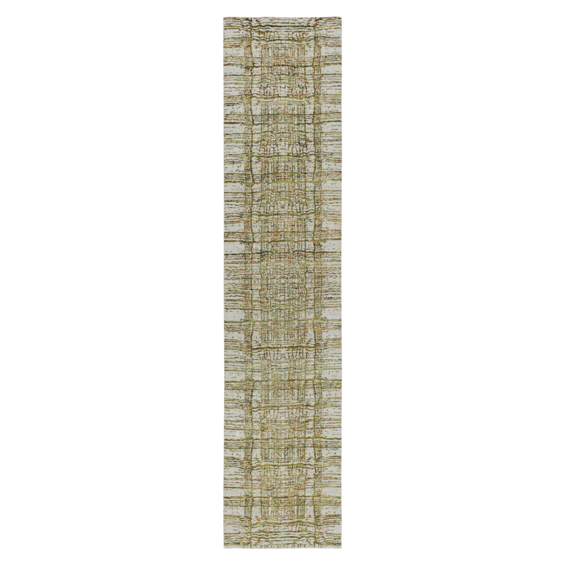Mid Century Modern Collection Hand Loomed Grey Rug No: 01116234