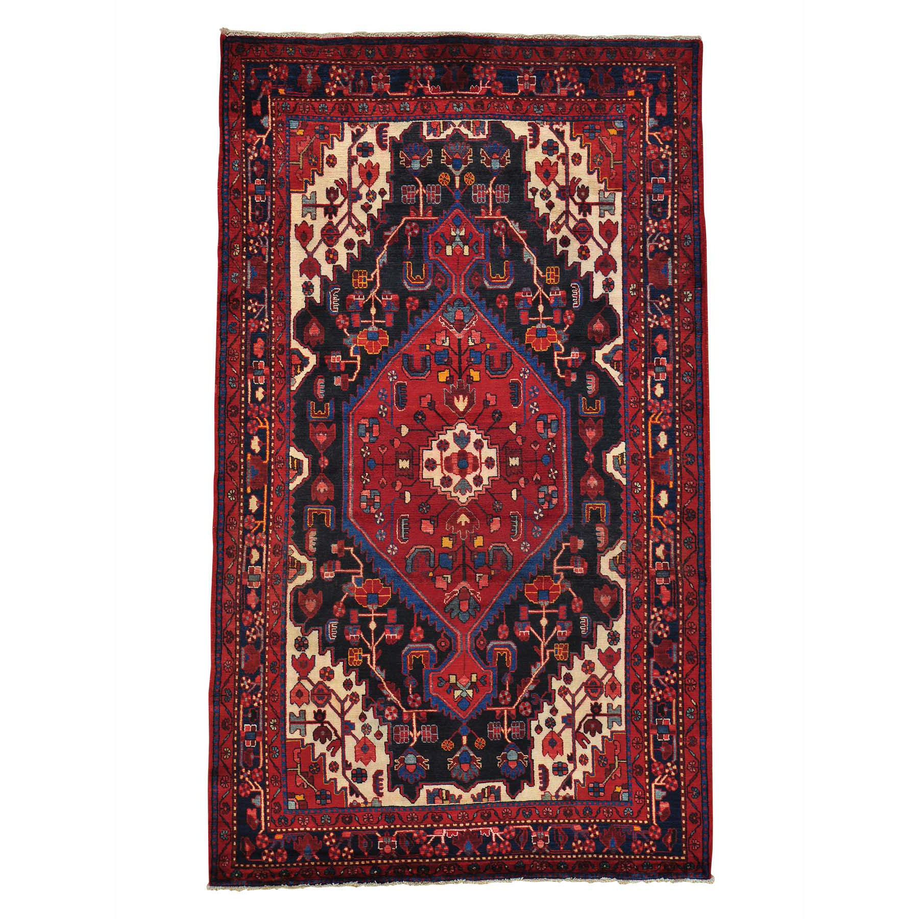 Classic Persian Collection Hand Knotted Black Rug No: 0149110
