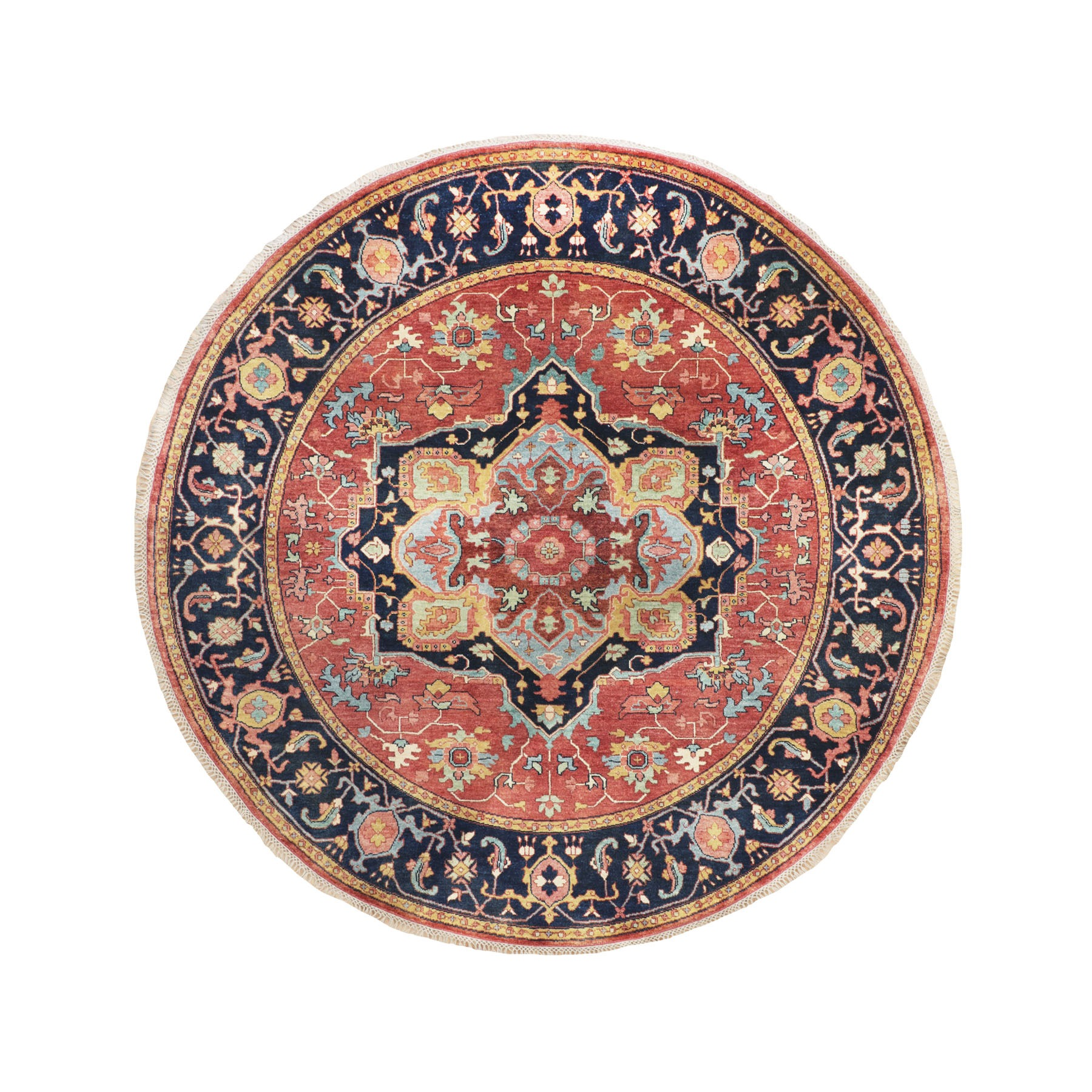 Serapi Heriz and Bakhshayesh Collection Hand Knotted Red Rug No: 1116134