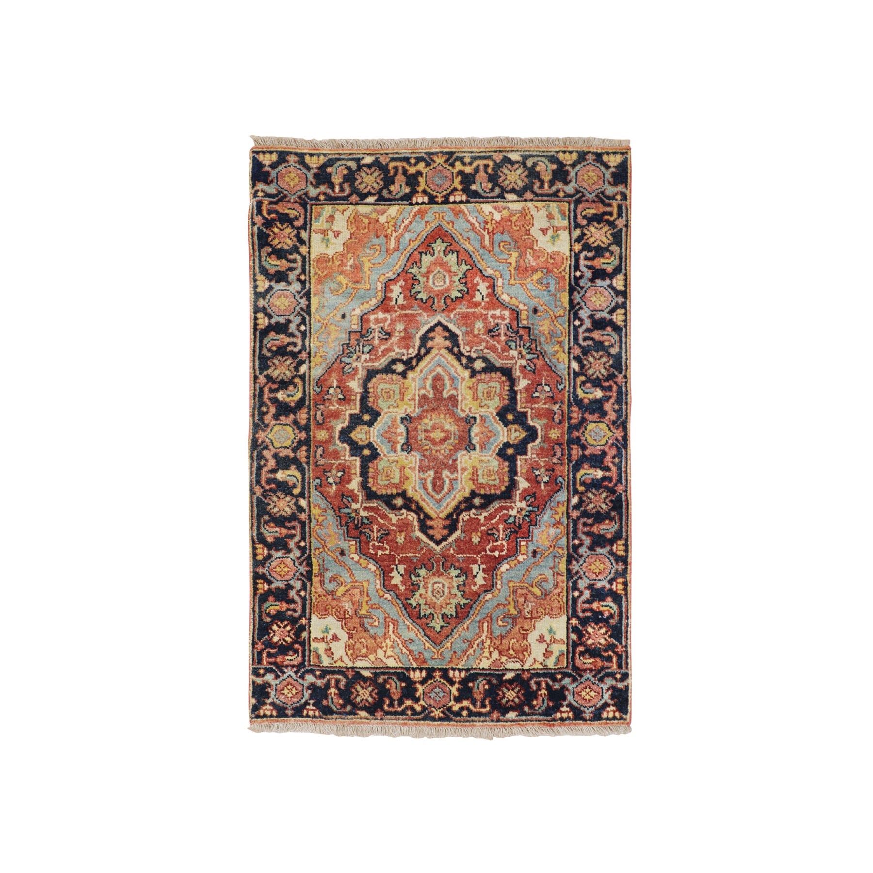 Serapi Heriz and Bakhshayesh Collection Hand Knotted Red Rug No: 1116144