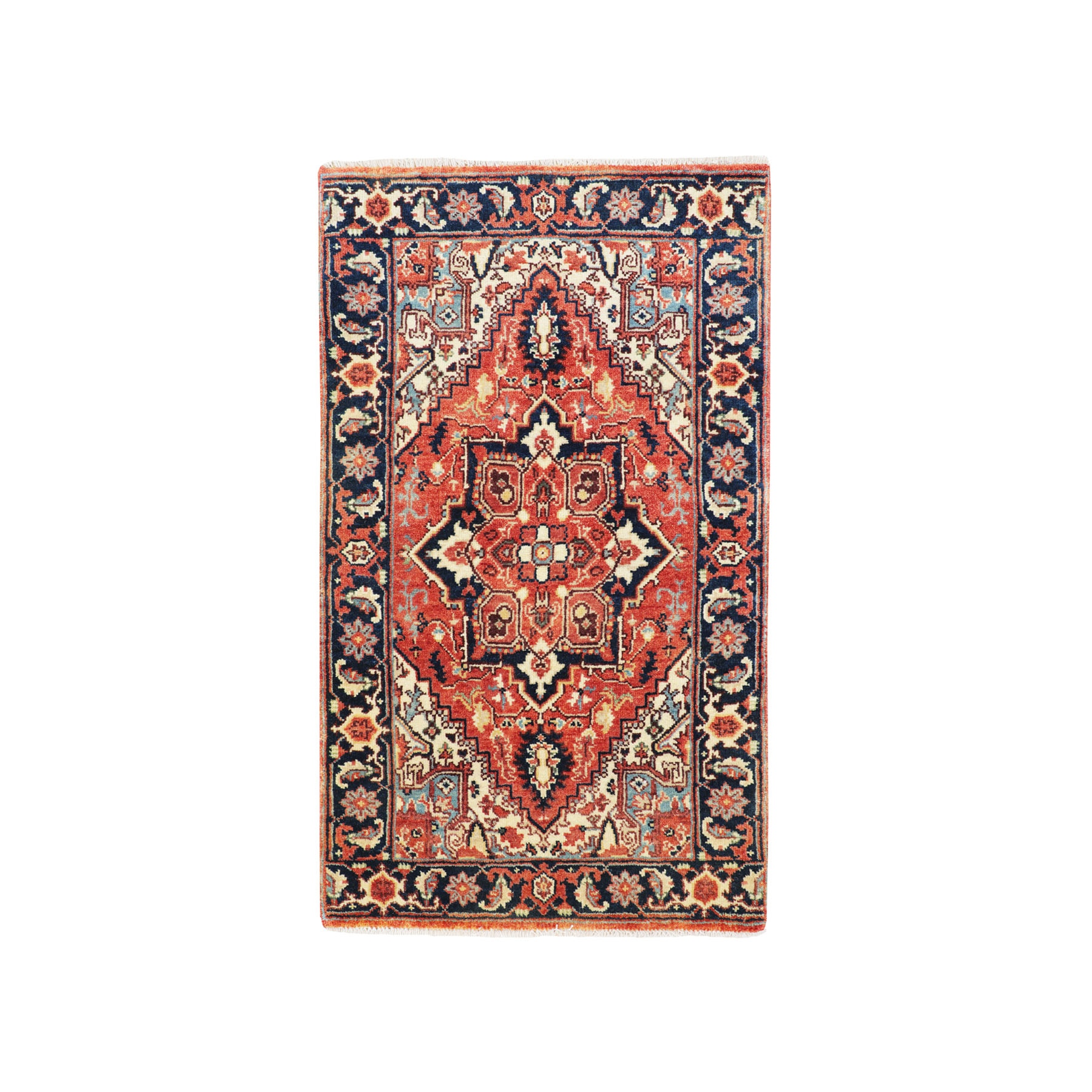 Serapi Heriz and Bakhshayesh Collection Hand Knotted Red Rug No: 1116188