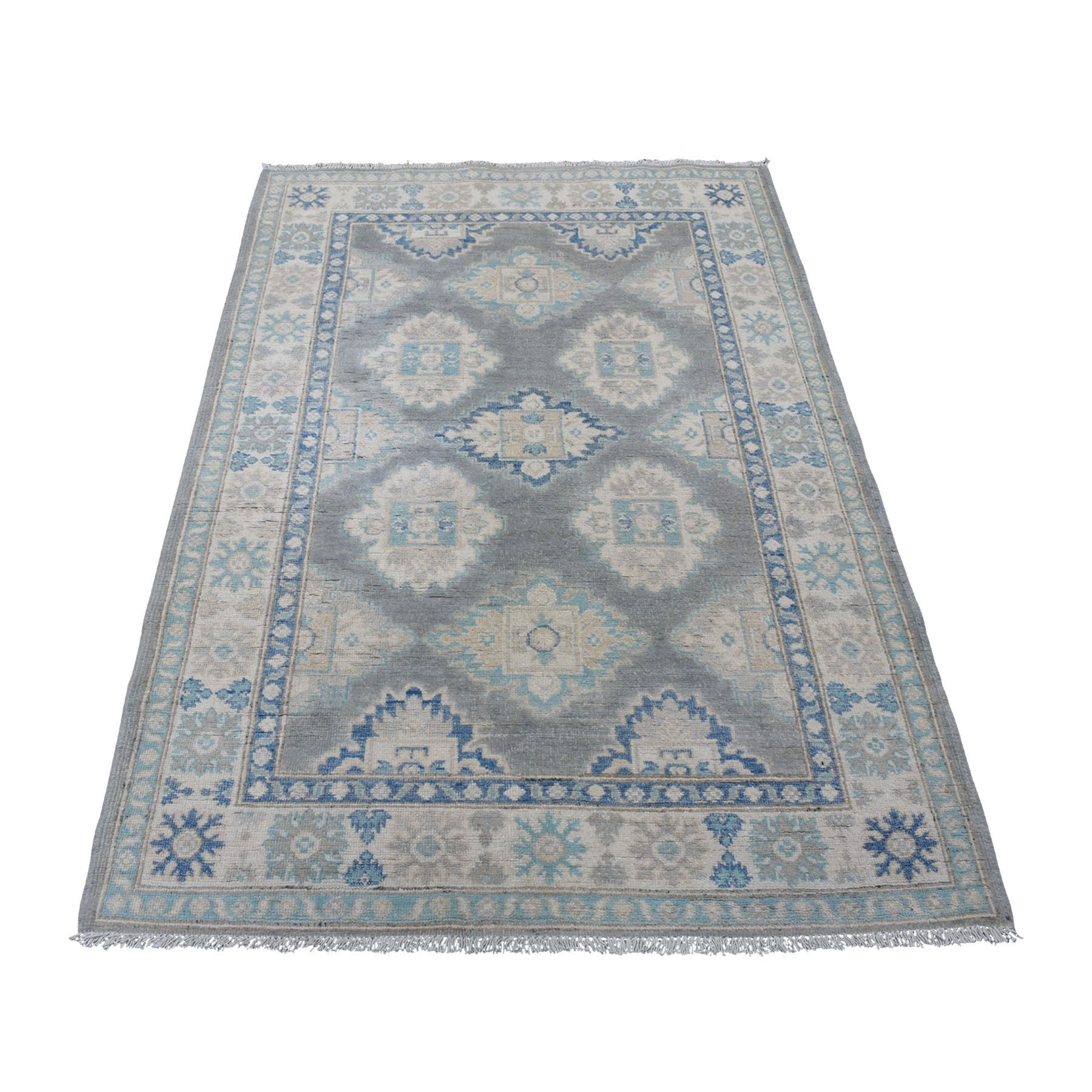Caucasian Collection Hand Knotted Grey Rug No: 01109704