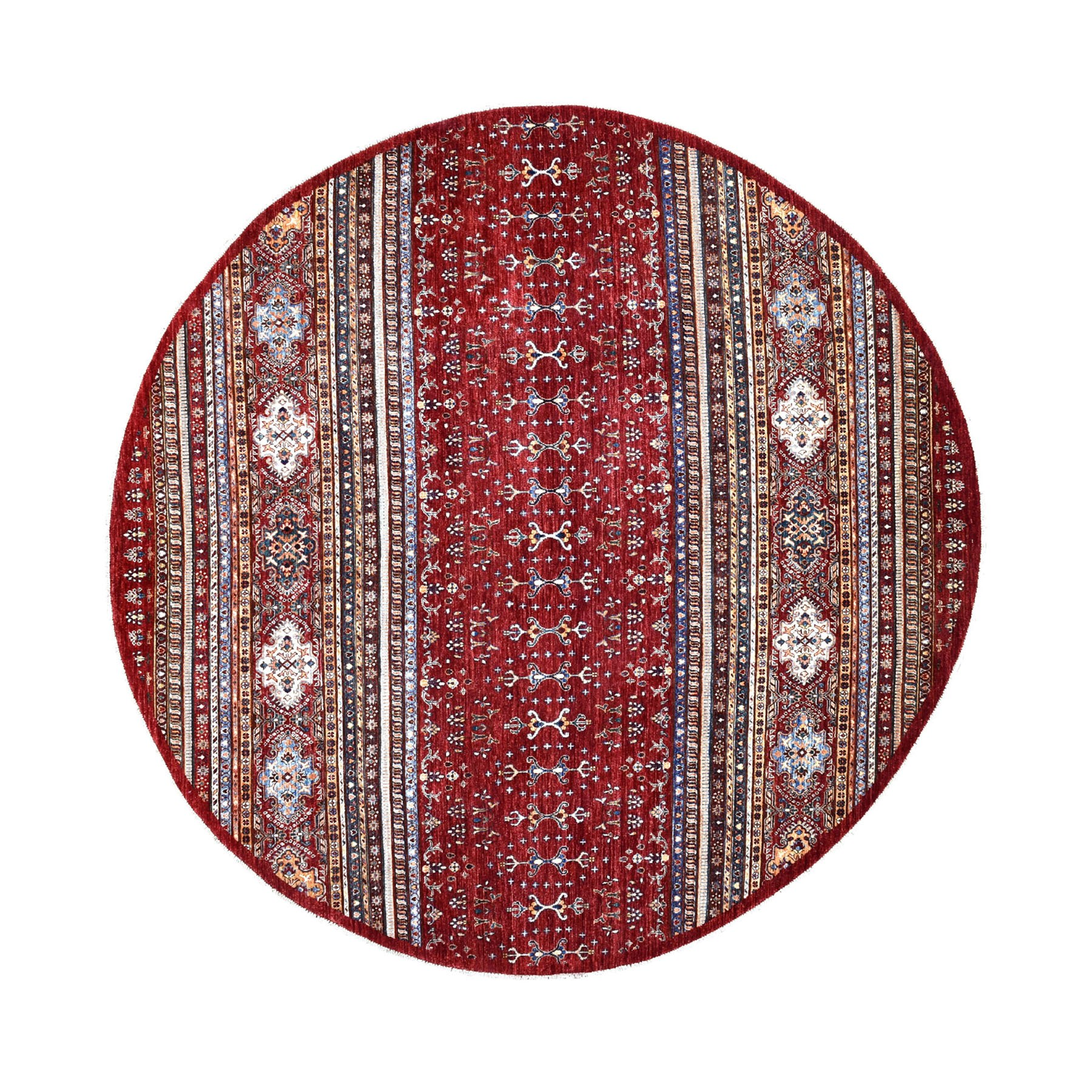 Caucasian Collection Hand Knotted Red Rug No: 1109912