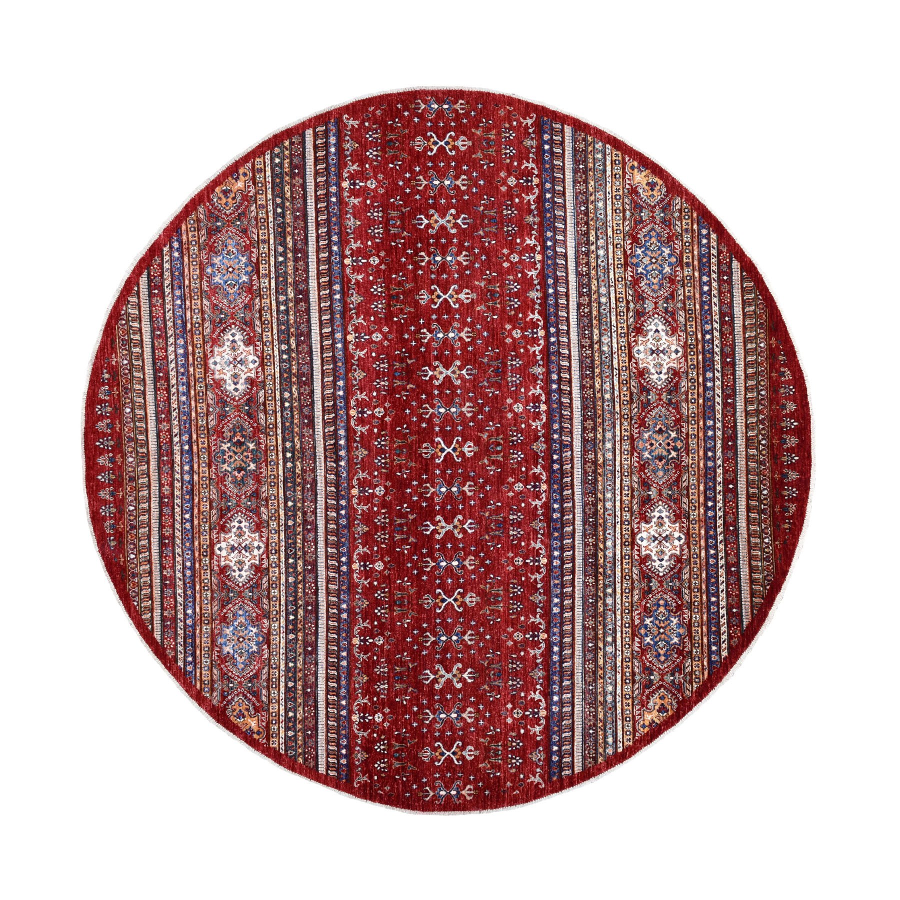 Caucasian Collection Hand Knotted Red Rug No: 1109916