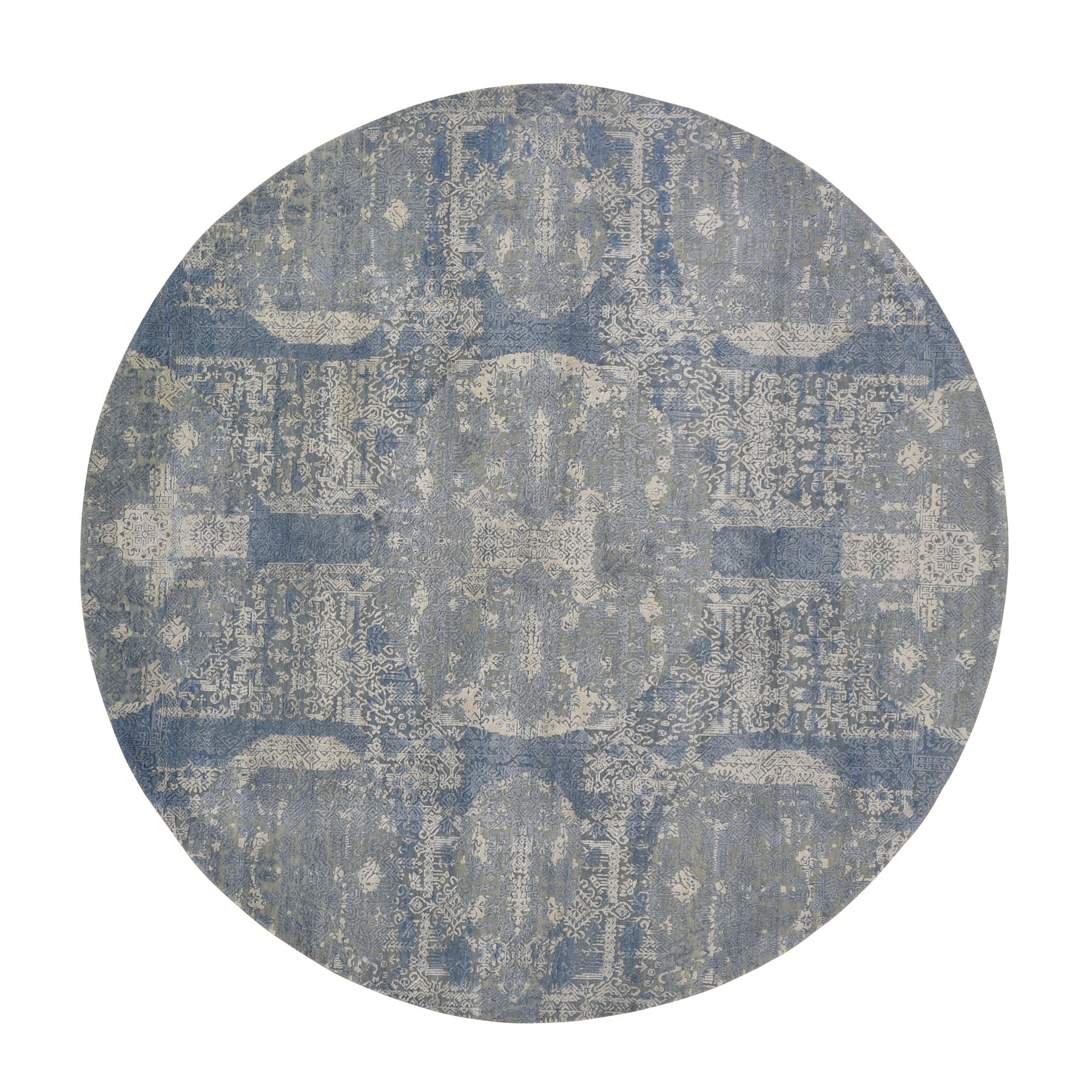 Transitional Hand Knotted Blue Rug No: 1118000