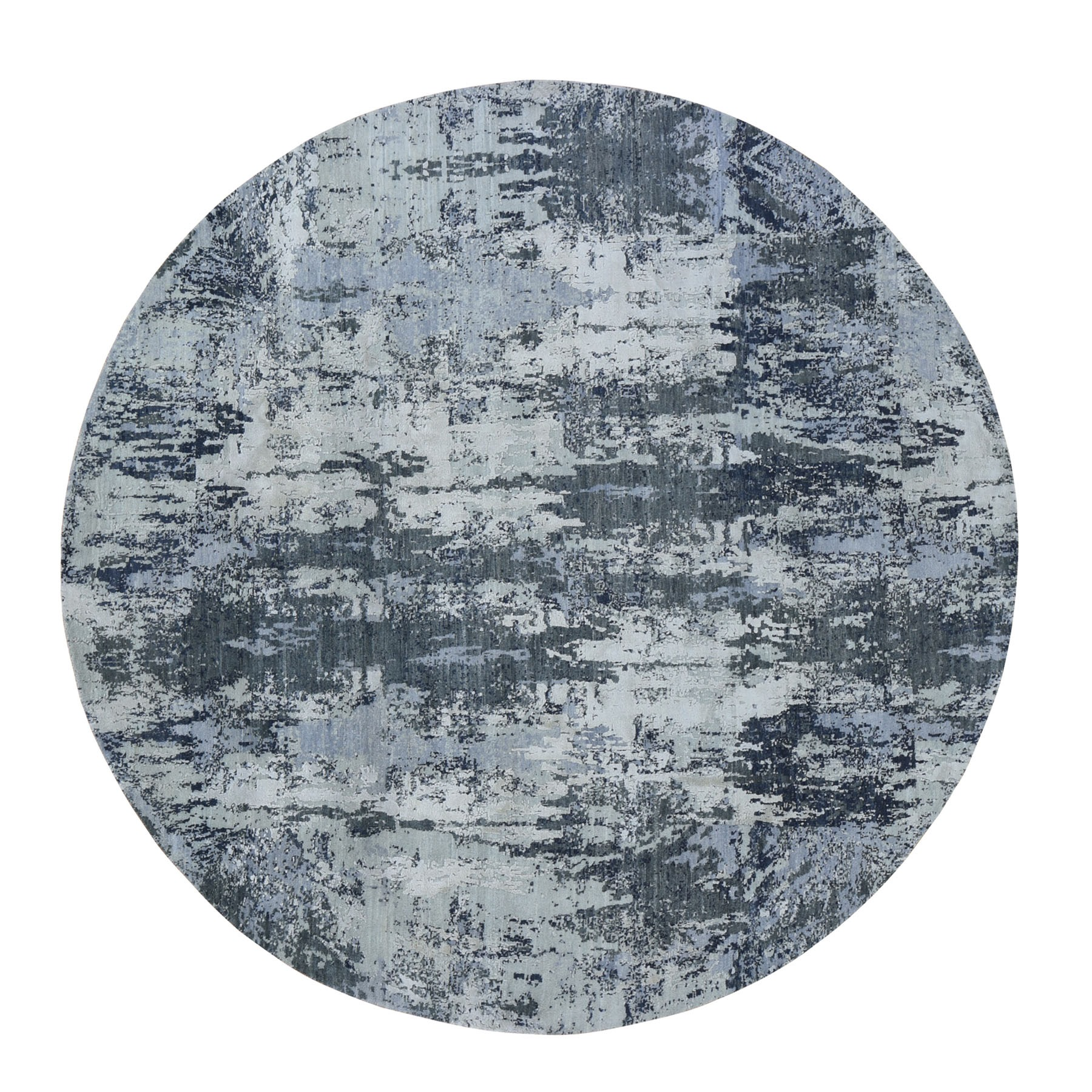 Mid Century Modern Collection Hand Knotted Grey Rug No: 199998