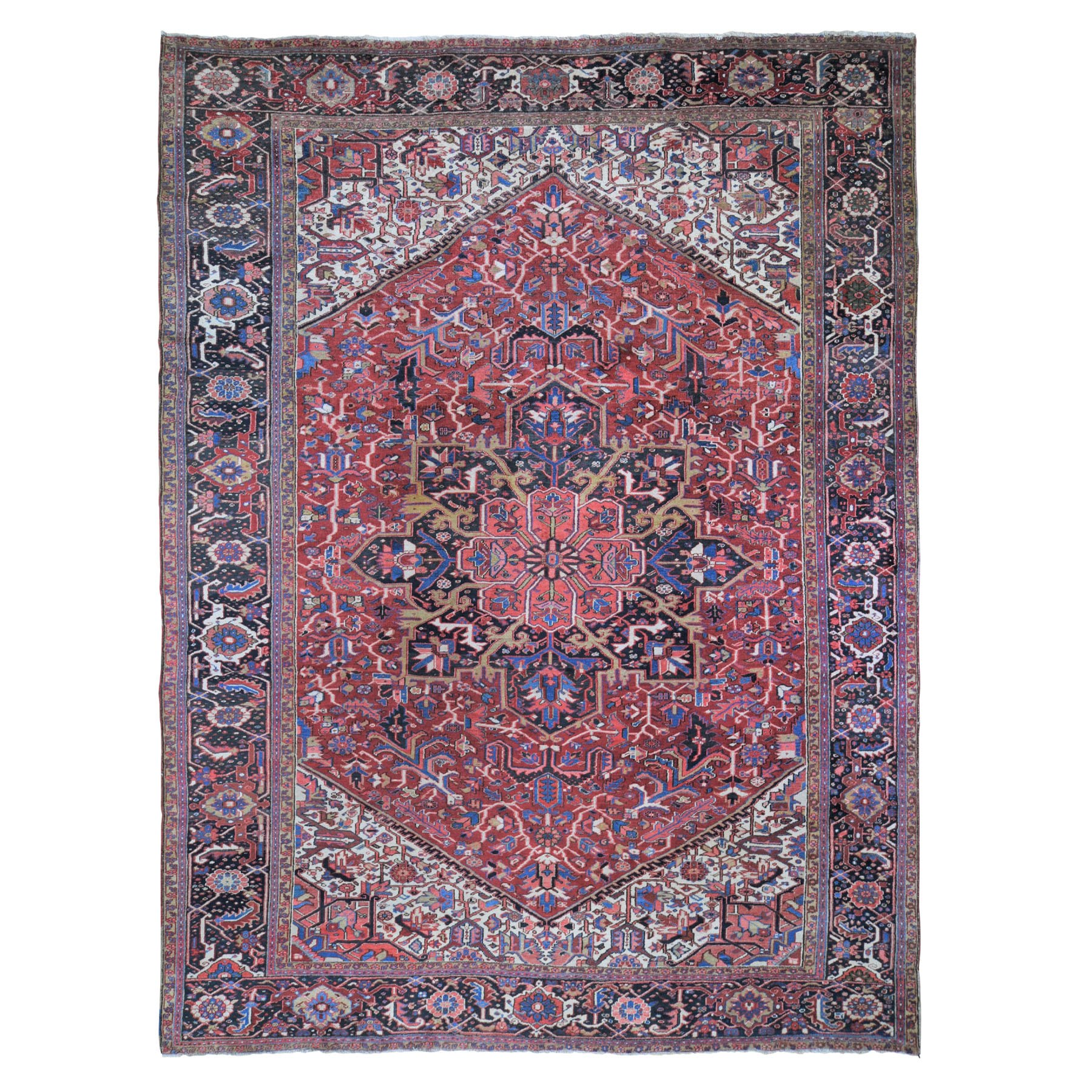 Antique Collection Hand Knotted Red Rug No: 199994