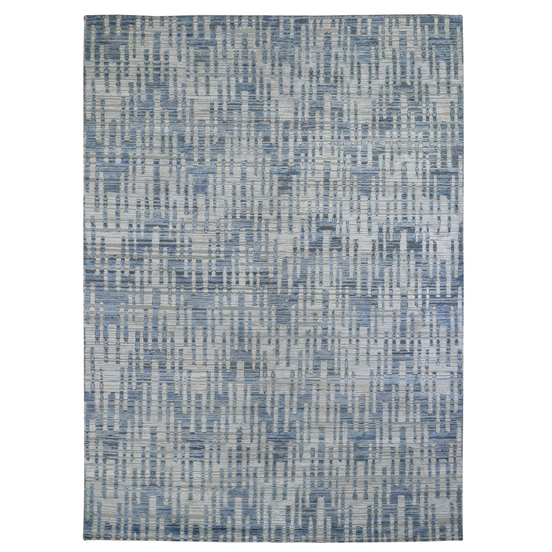 Mid Century Modern Collection Hand Knotted Beige Rug No: 01118006