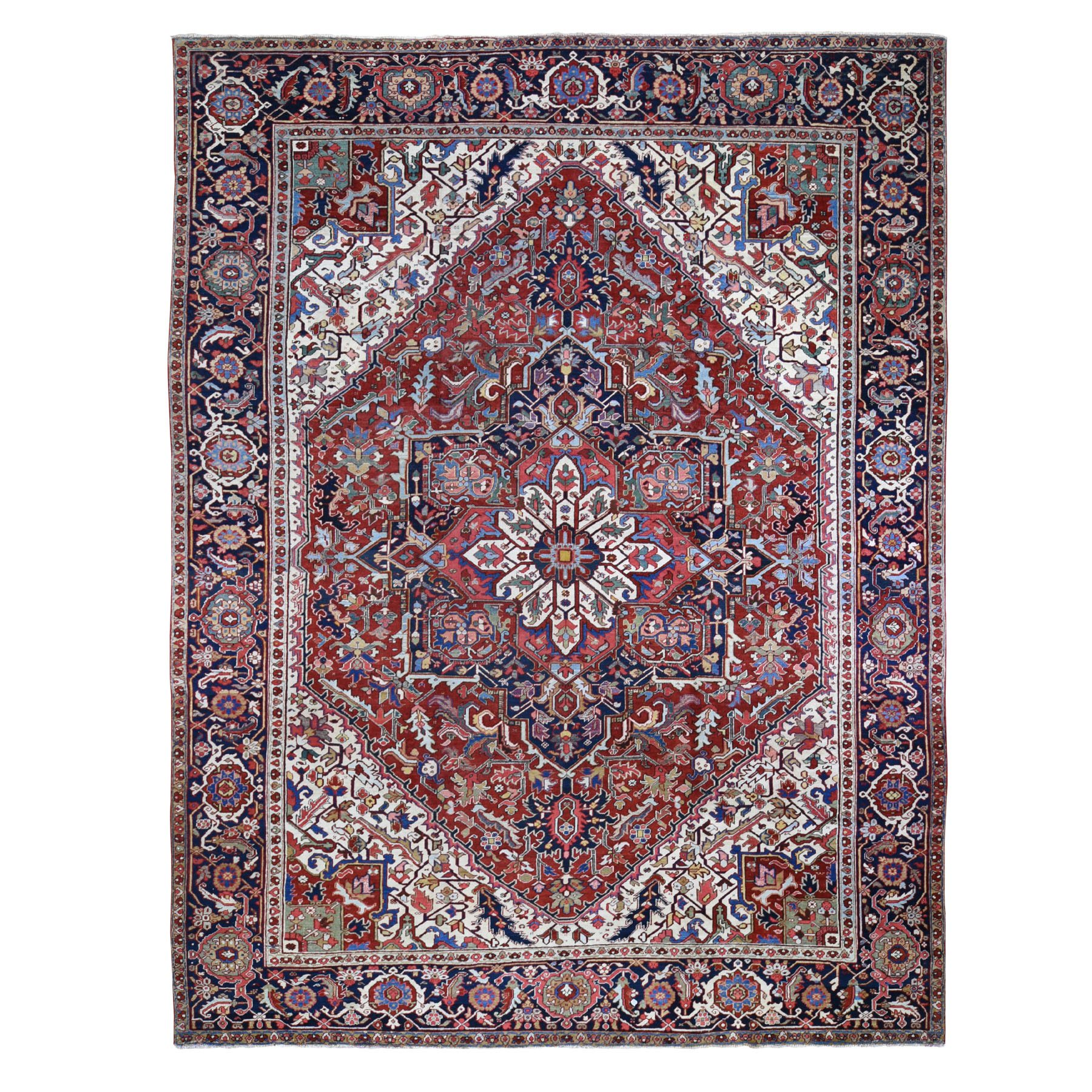 Antique Collection Hand Knotted Red Rug No: 01118010