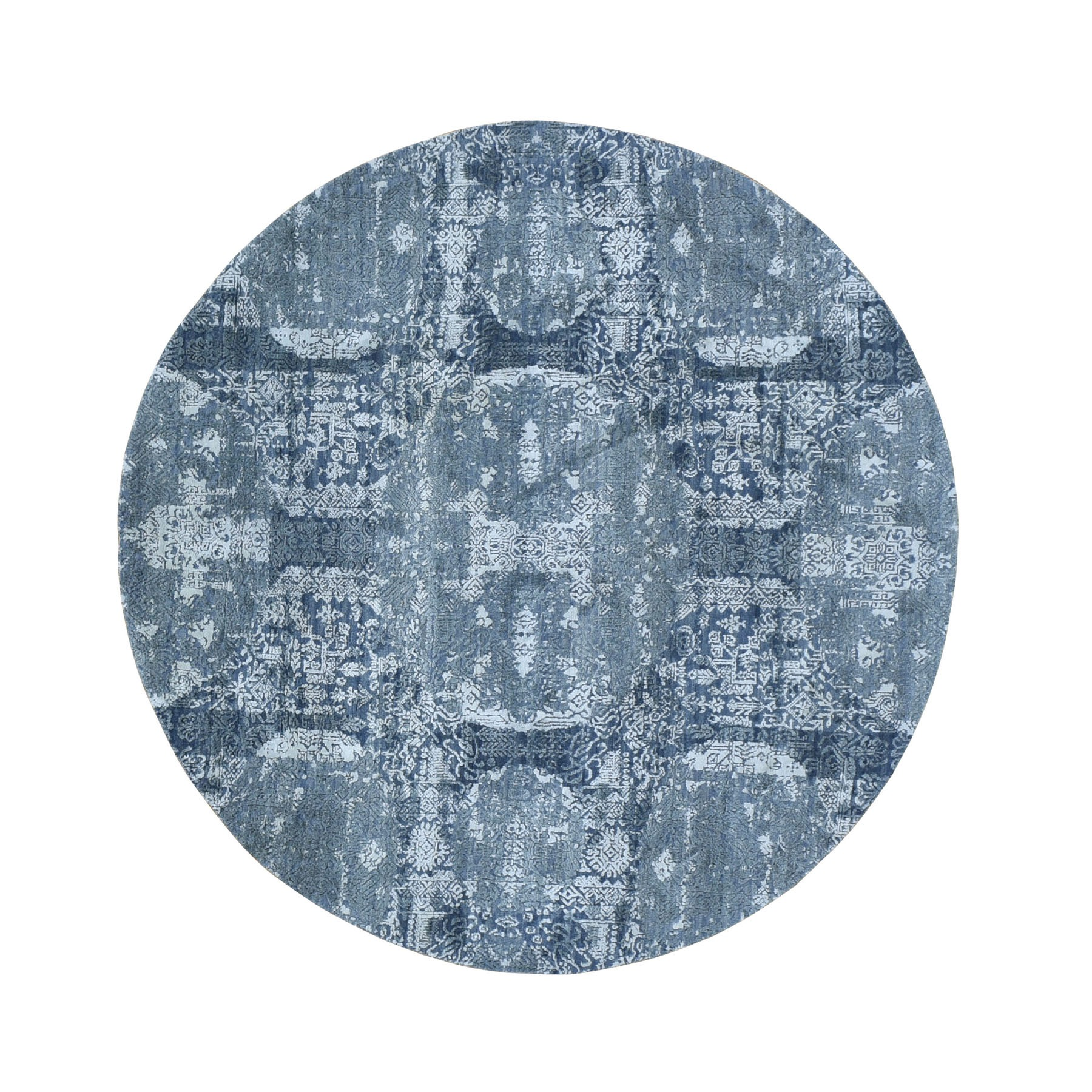 Transitional Hand Knotted Grey Rug No: 1118004