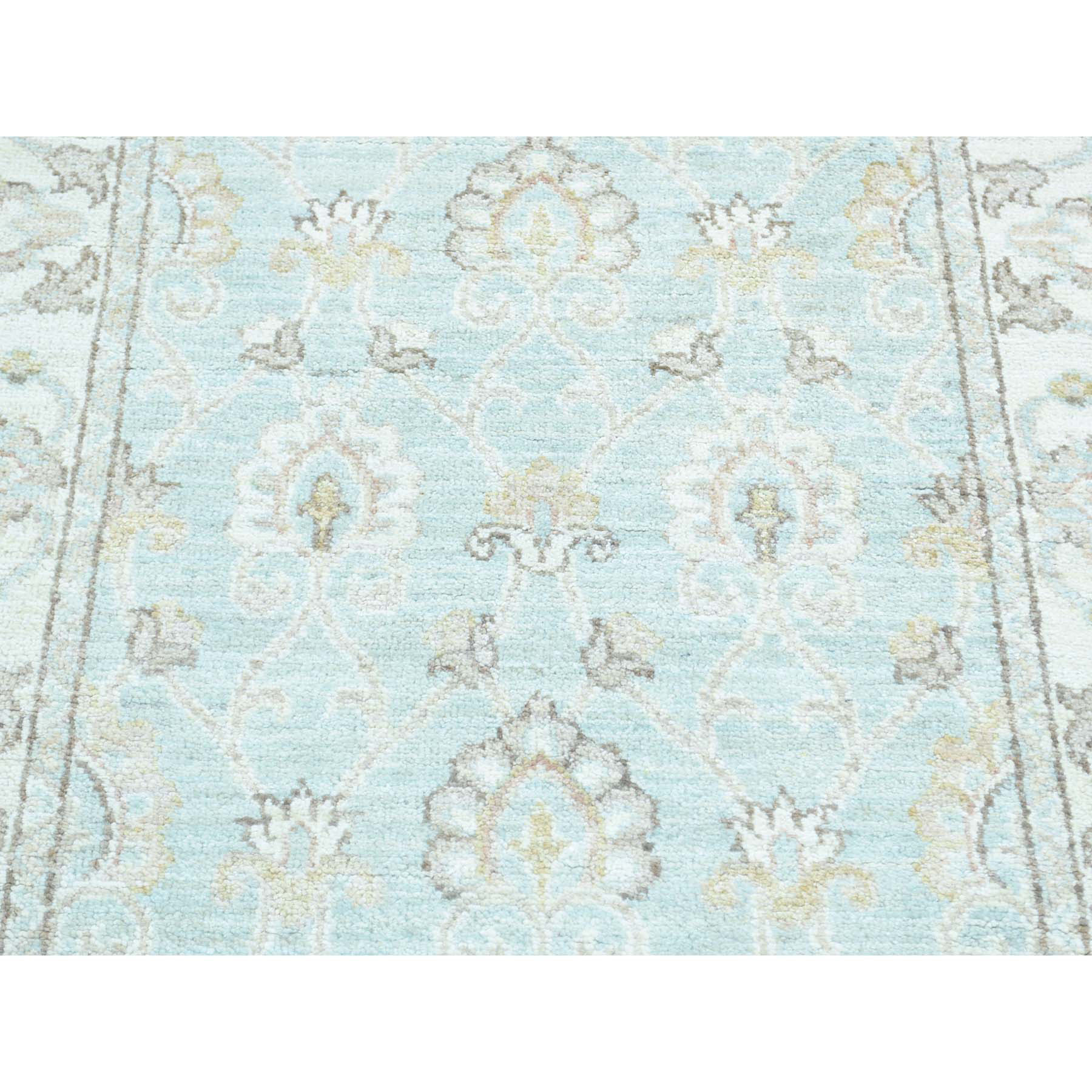 Agra And Turkish Collection Hand Knotted Green 0164176 Rug