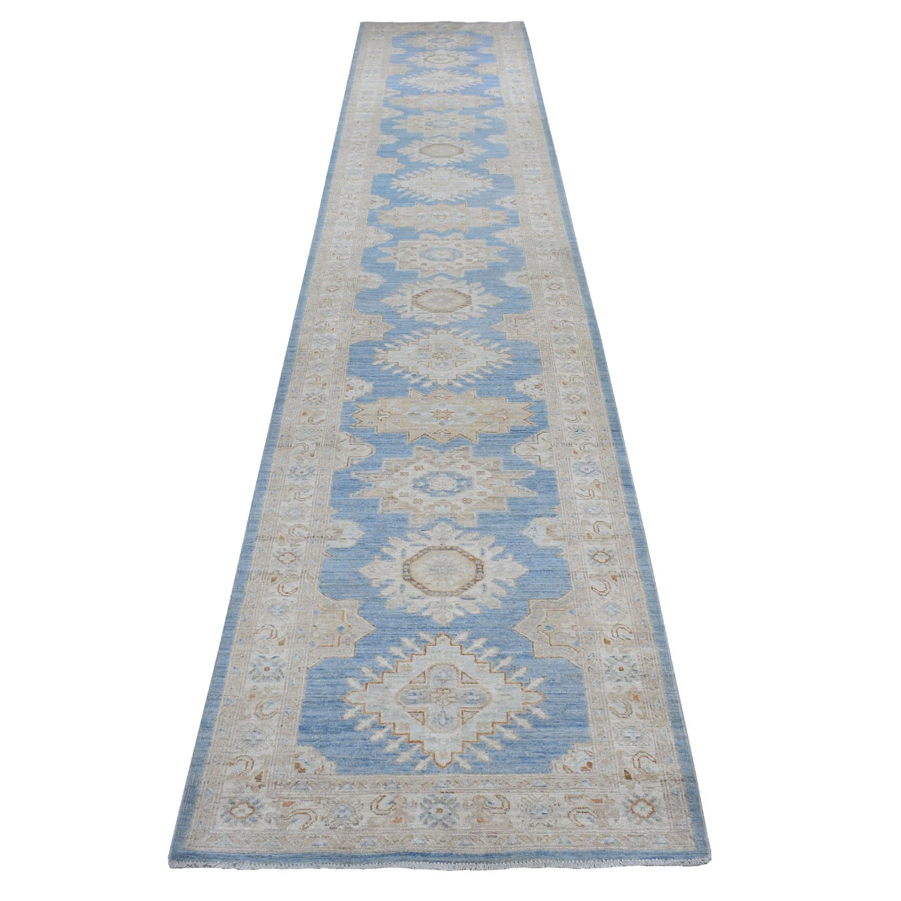 Agra And Turkish Collection Hand Knotted Blue Rug No: 01110054