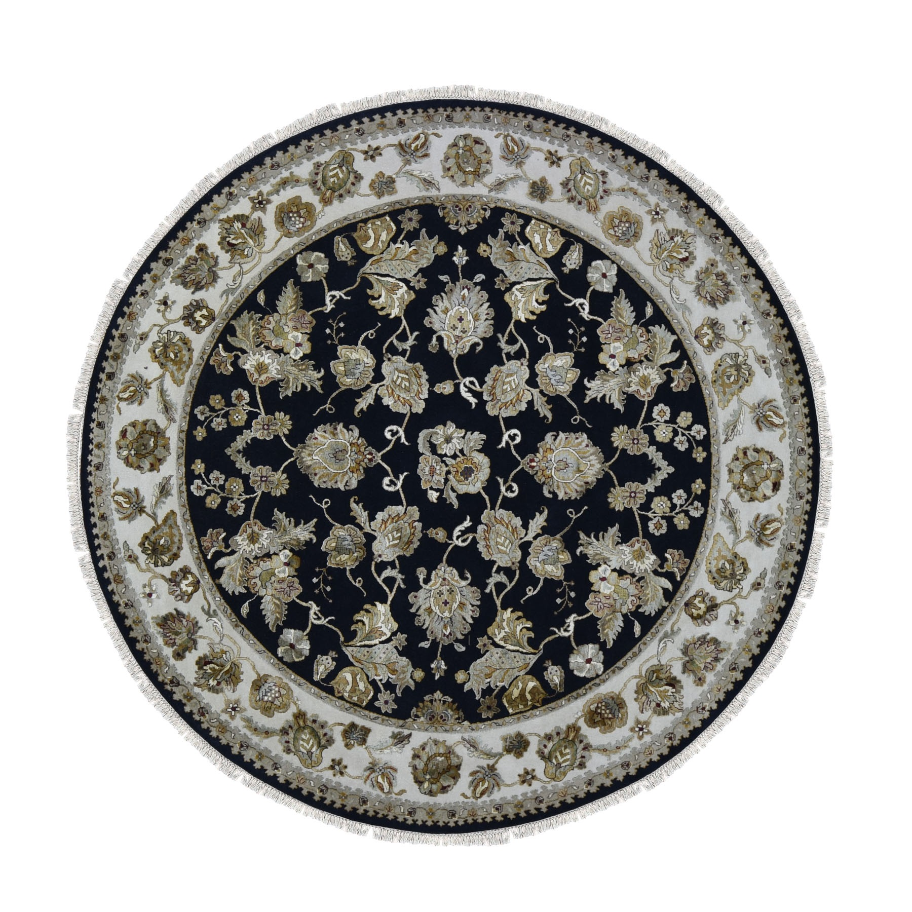 Pahlavi Collection Hand Knotted Black Rug No: 1118034