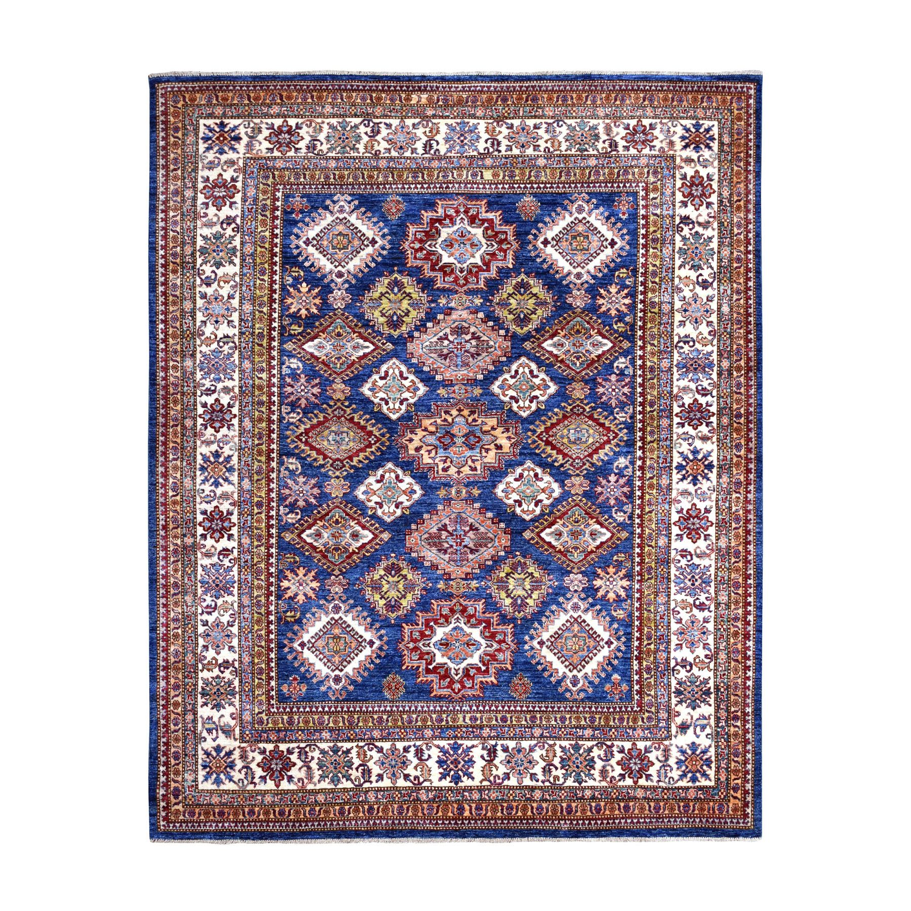 Caucasian Collection Hand Knotted Blue Rug No: 1109890