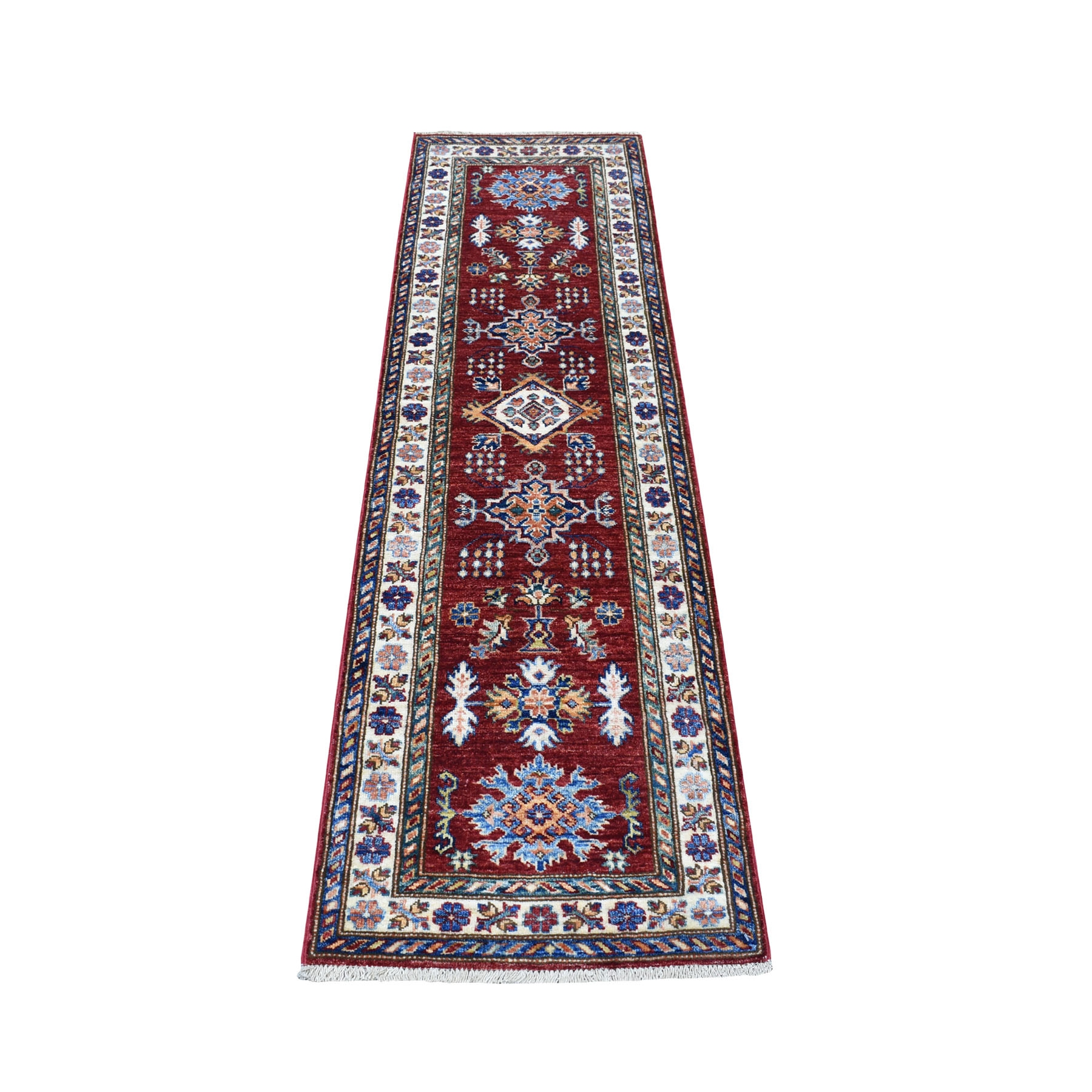Caucasian Collection Hand Knotted Red Rug No: 01109900