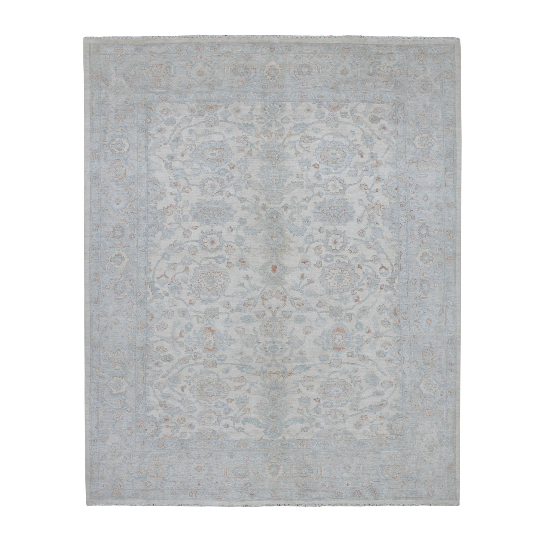 Agra And Turkish Collection Hand Knotted Ivory Rug No: 1109906
