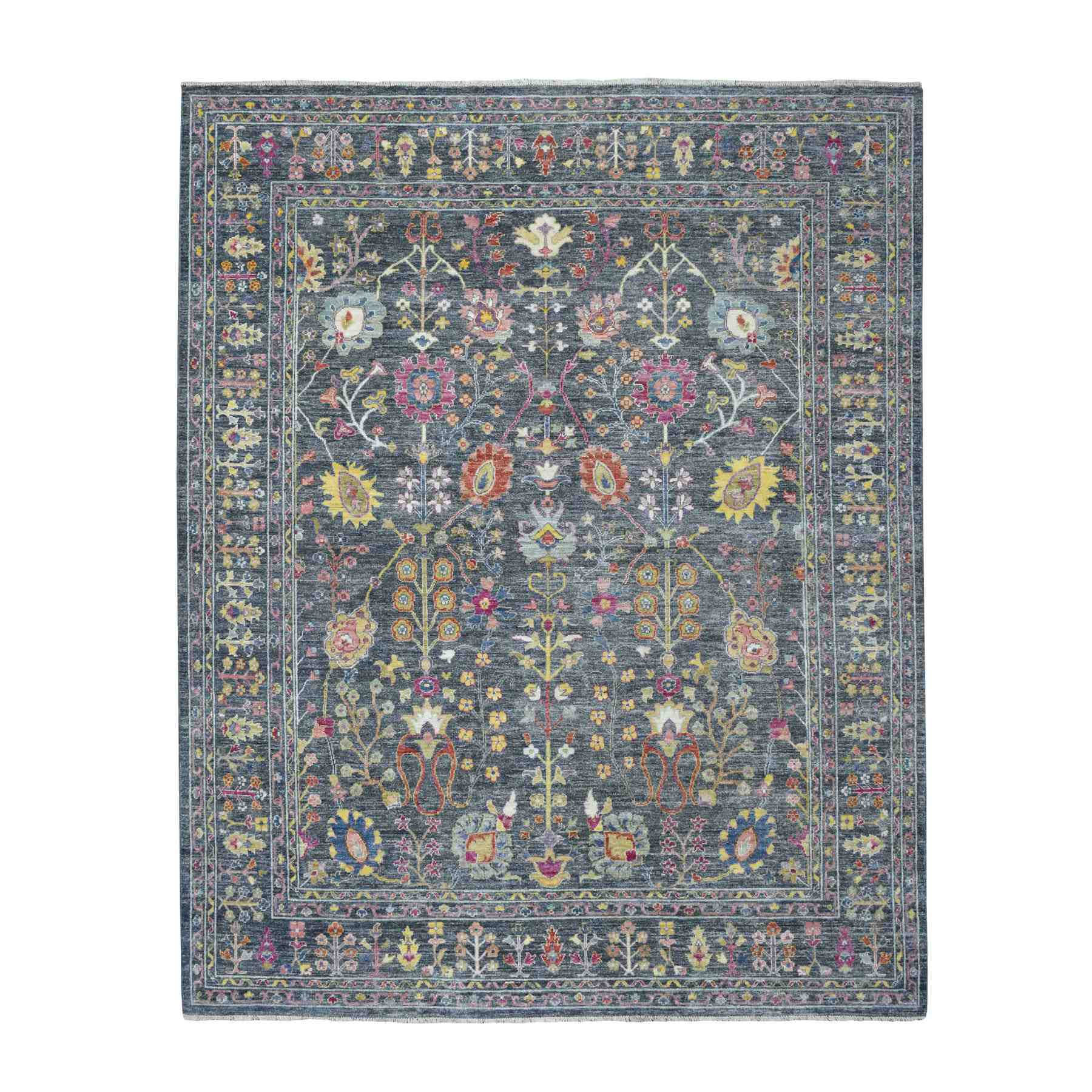 Agra And Turkish Collection Hand Knotted Grey Rug No: 1109974