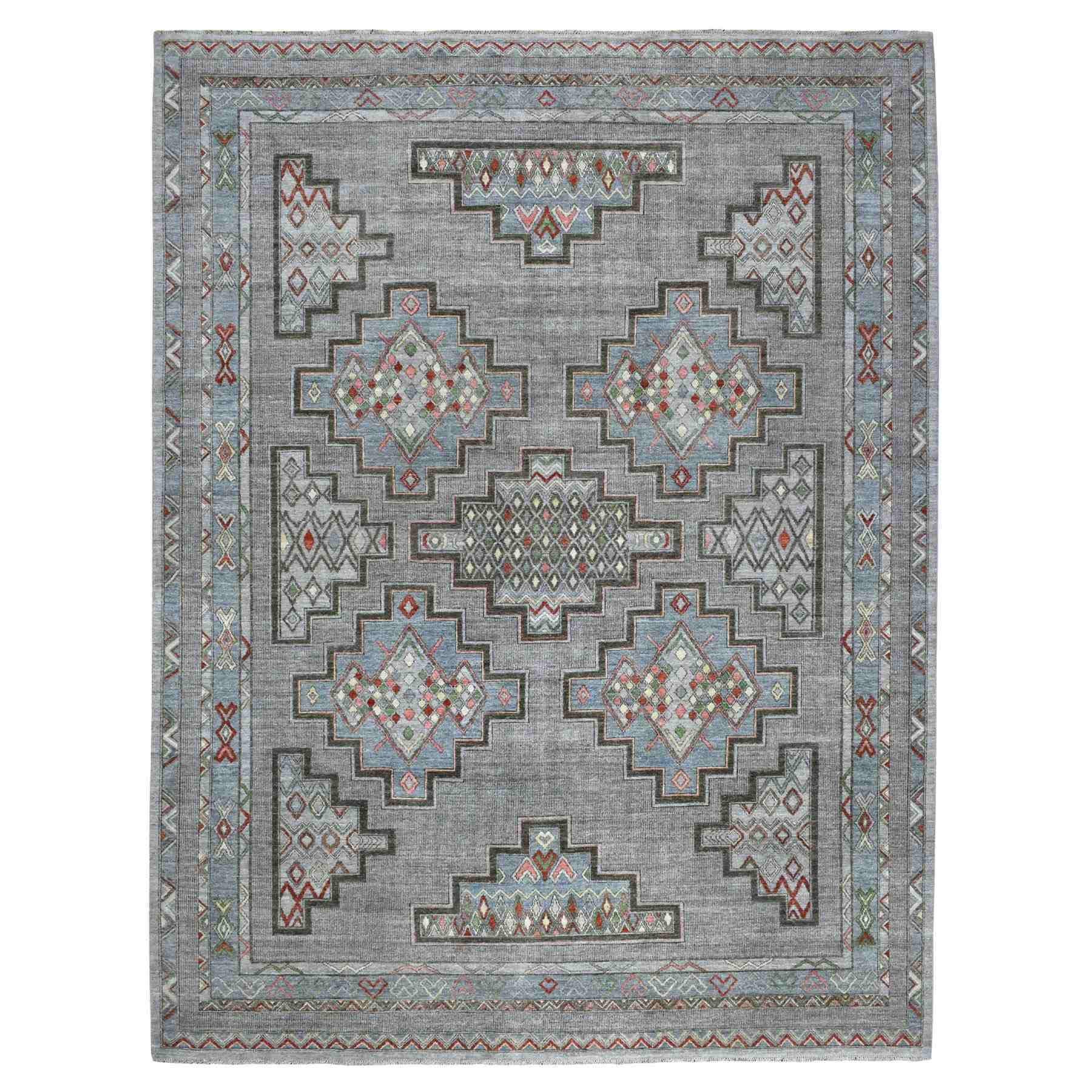 Agra And Turkish Collection Hand Knotted Grey Rug No: 1110056