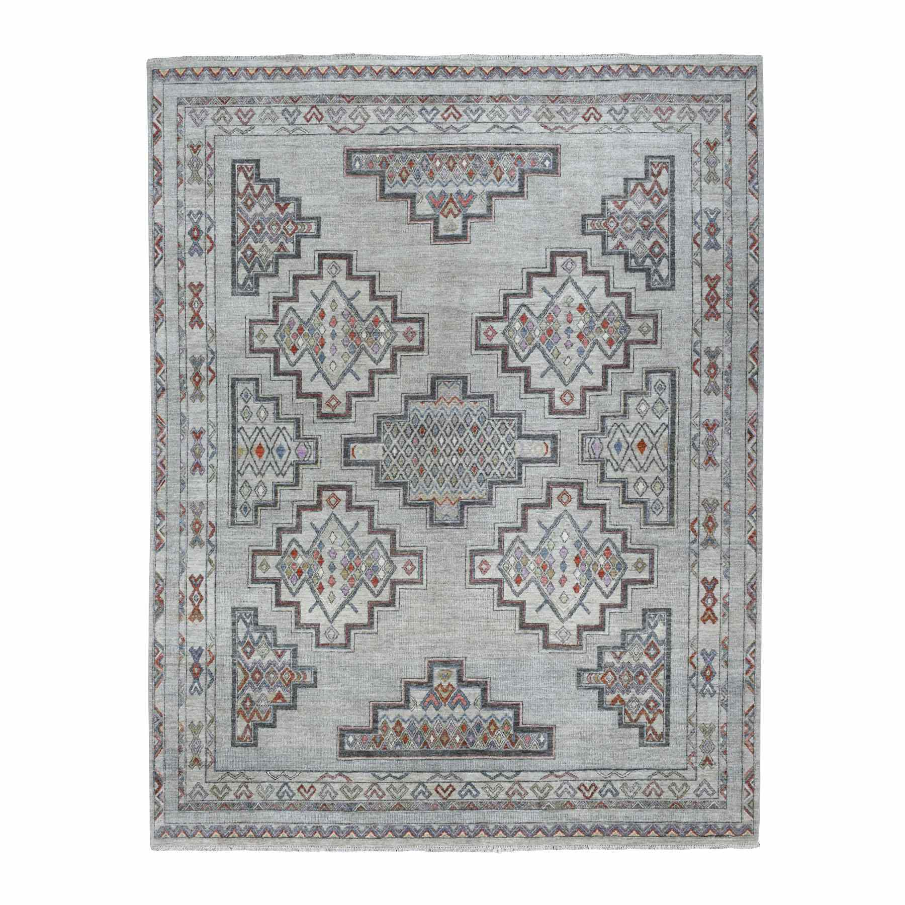 Agra And Turkish Collection Hand Knotted Grey Rug No: 1110058