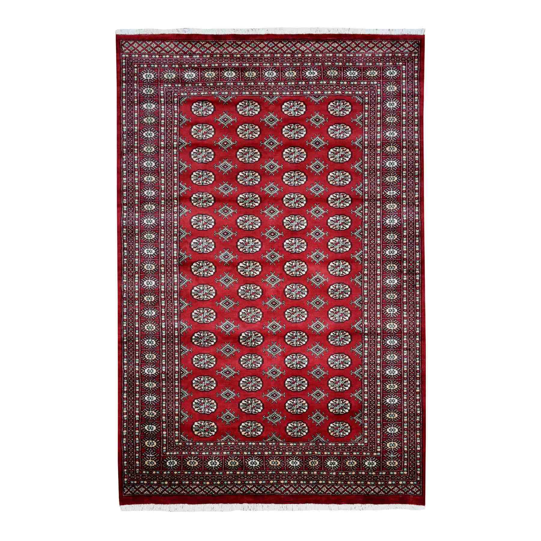 Nomadic And Village Collection Hand Knotted Red Rug No: 01110078