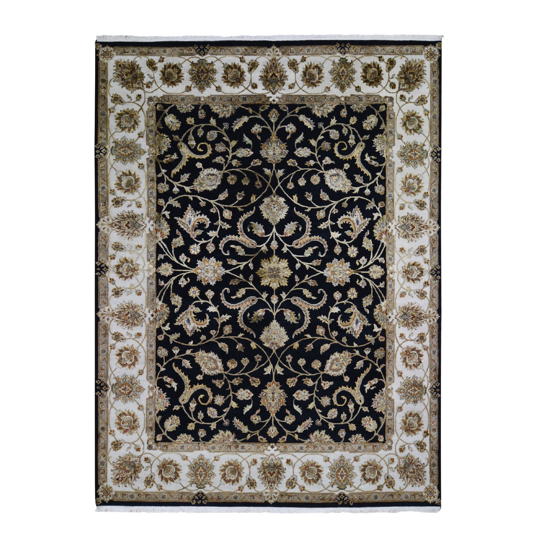 Pahlavi Collection Hand Knotted Black Rug No: 1118030