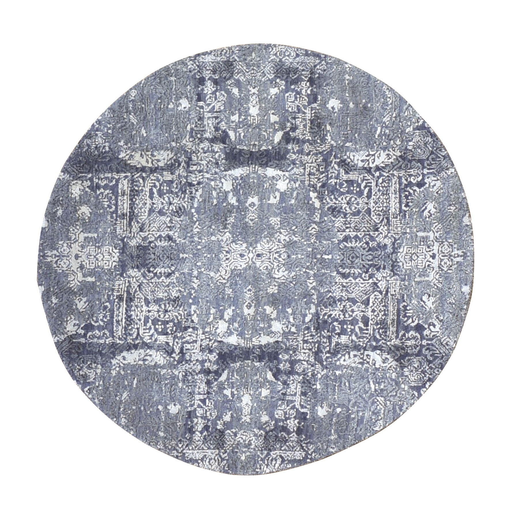 Transitional Hand Knotted Grey Rug No: 01118050