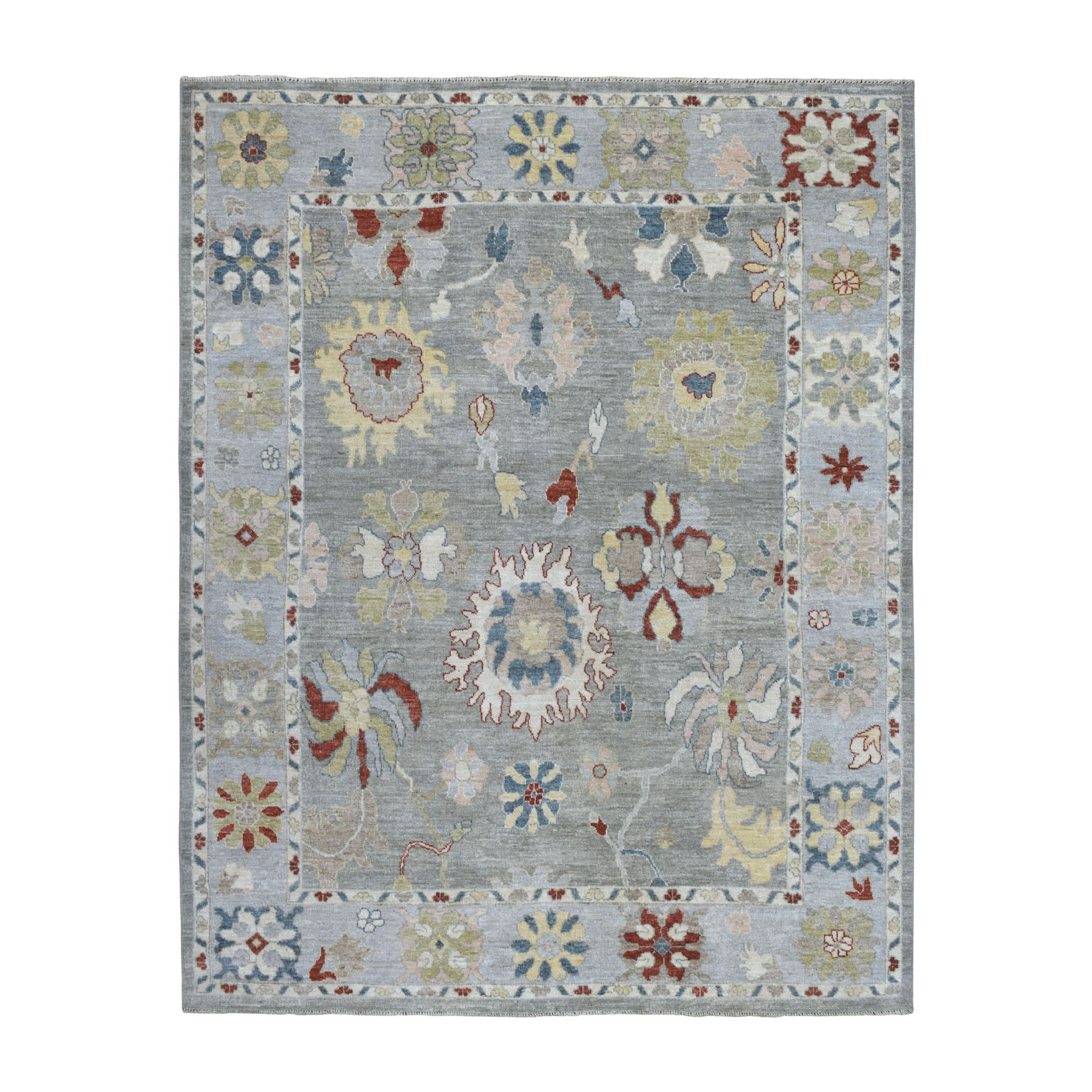 Agra And Turkish Collection Hand Knotted Grey Rug No: 1108808