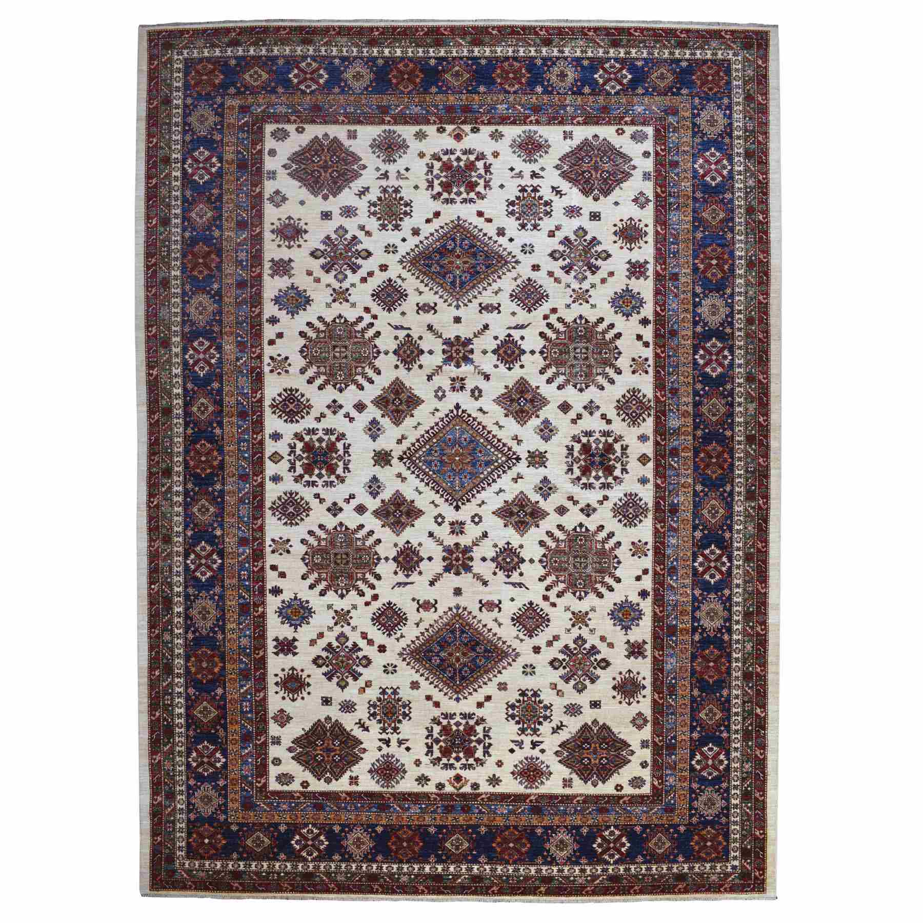 Caucasian Collection Hand Knotted Beige Rug No: 1110346