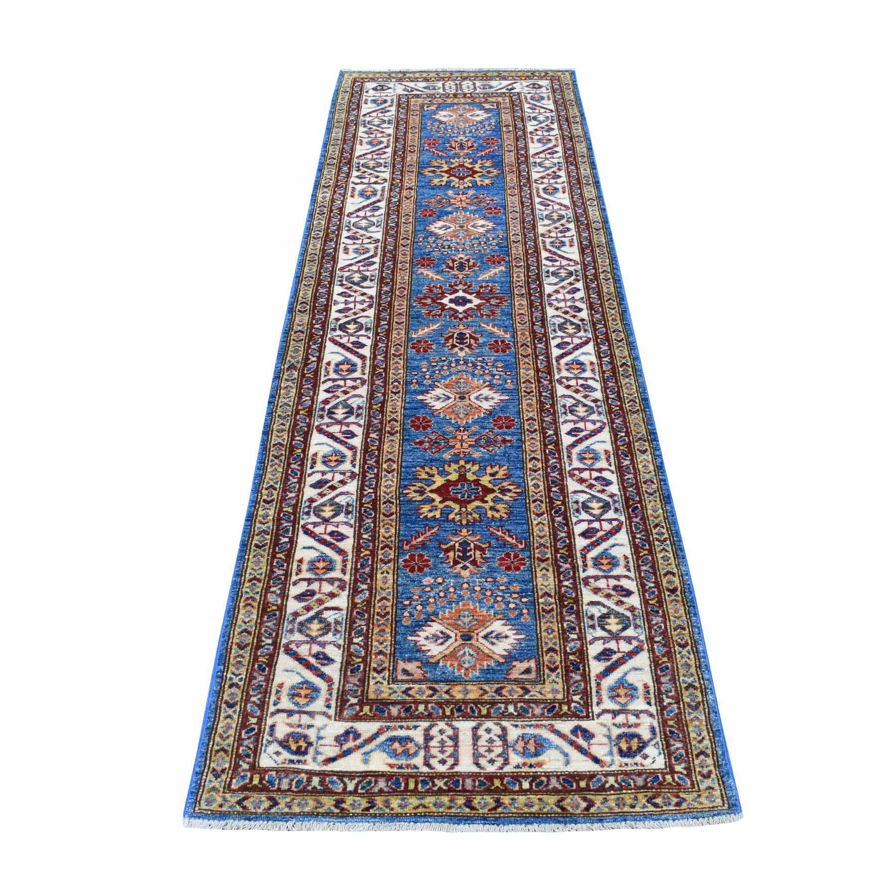 Caucasian Collection Hand Knotted Blue Rug No: 01110408