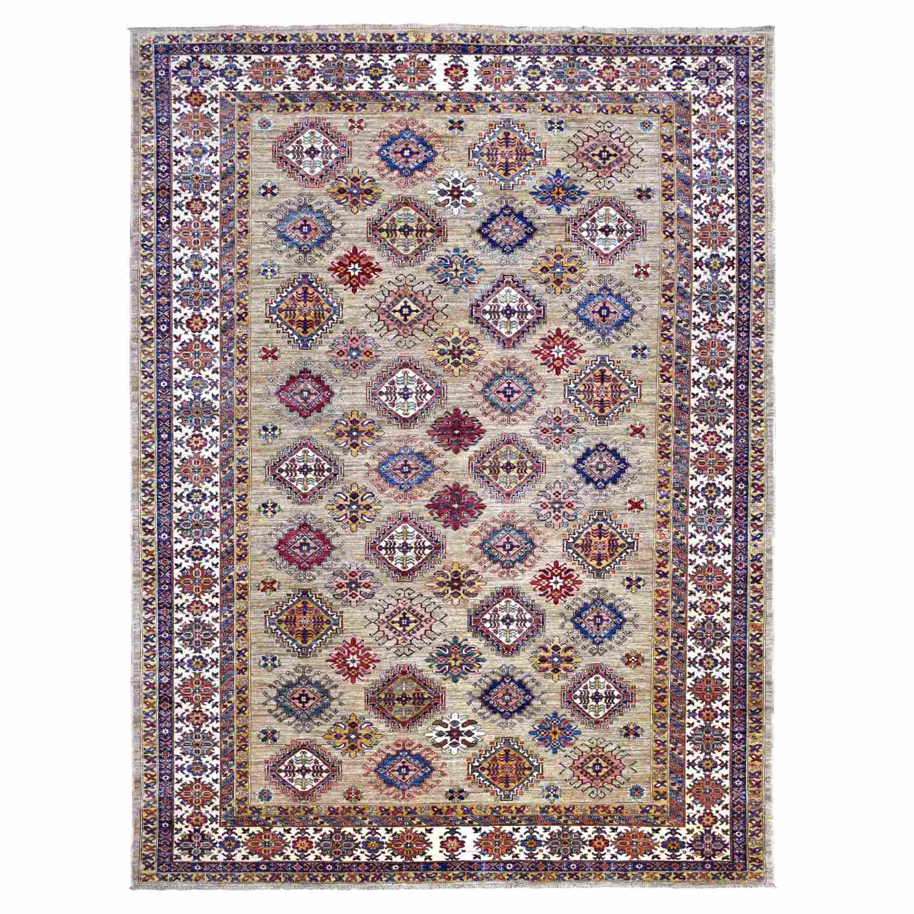 Caucasian Collection Hand Knotted Brown Rug No: 01110418