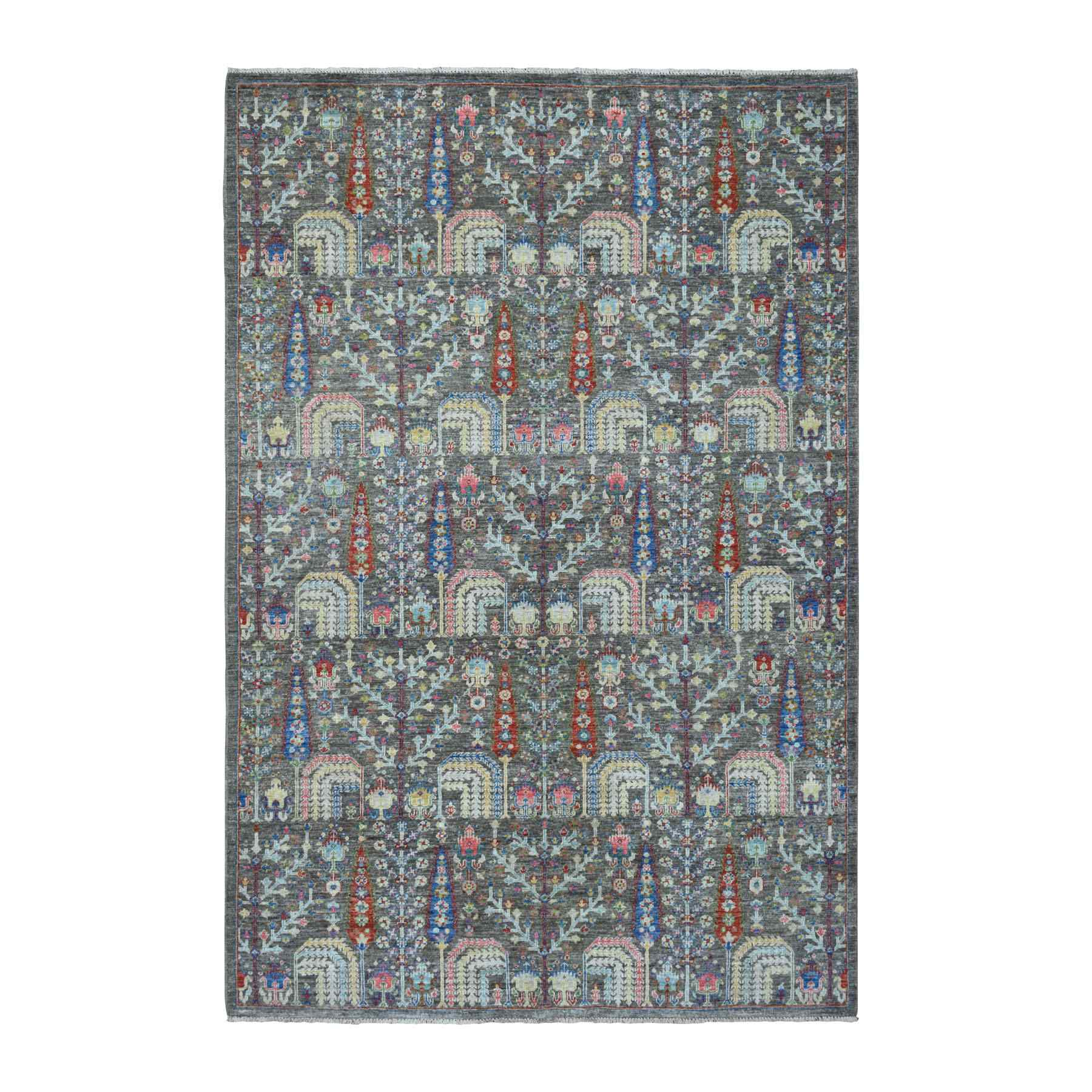 Transitional Hand Knotted Grey Rug No: 01110208