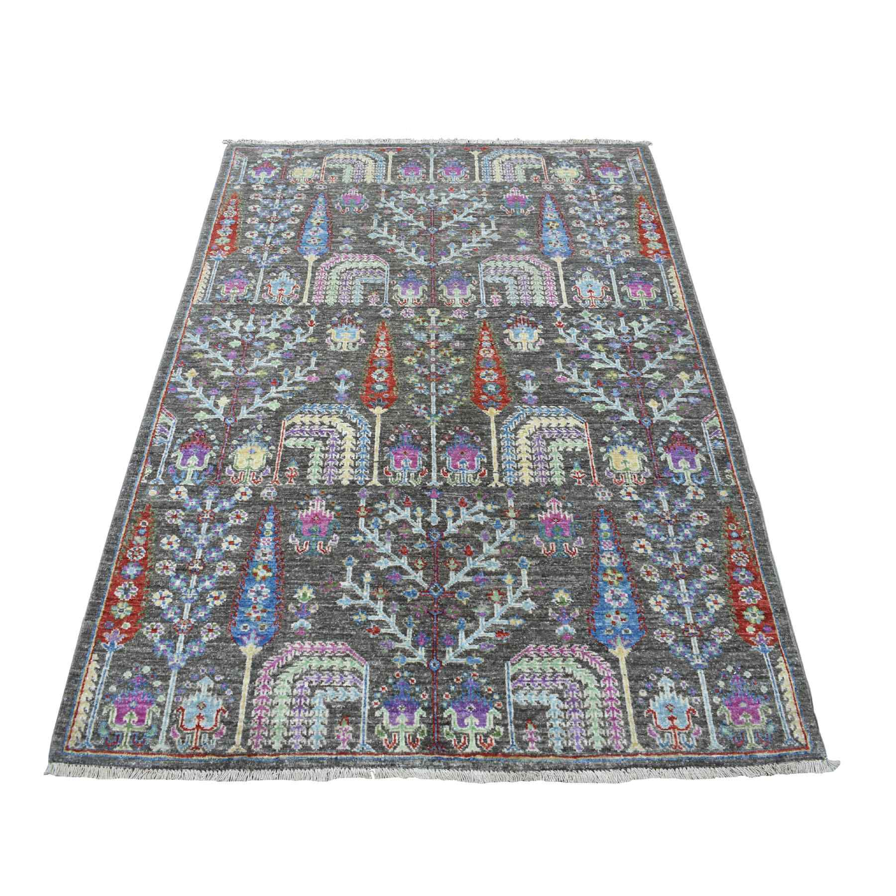 Transitional Hand Knotted Grey Rug No: 1110212