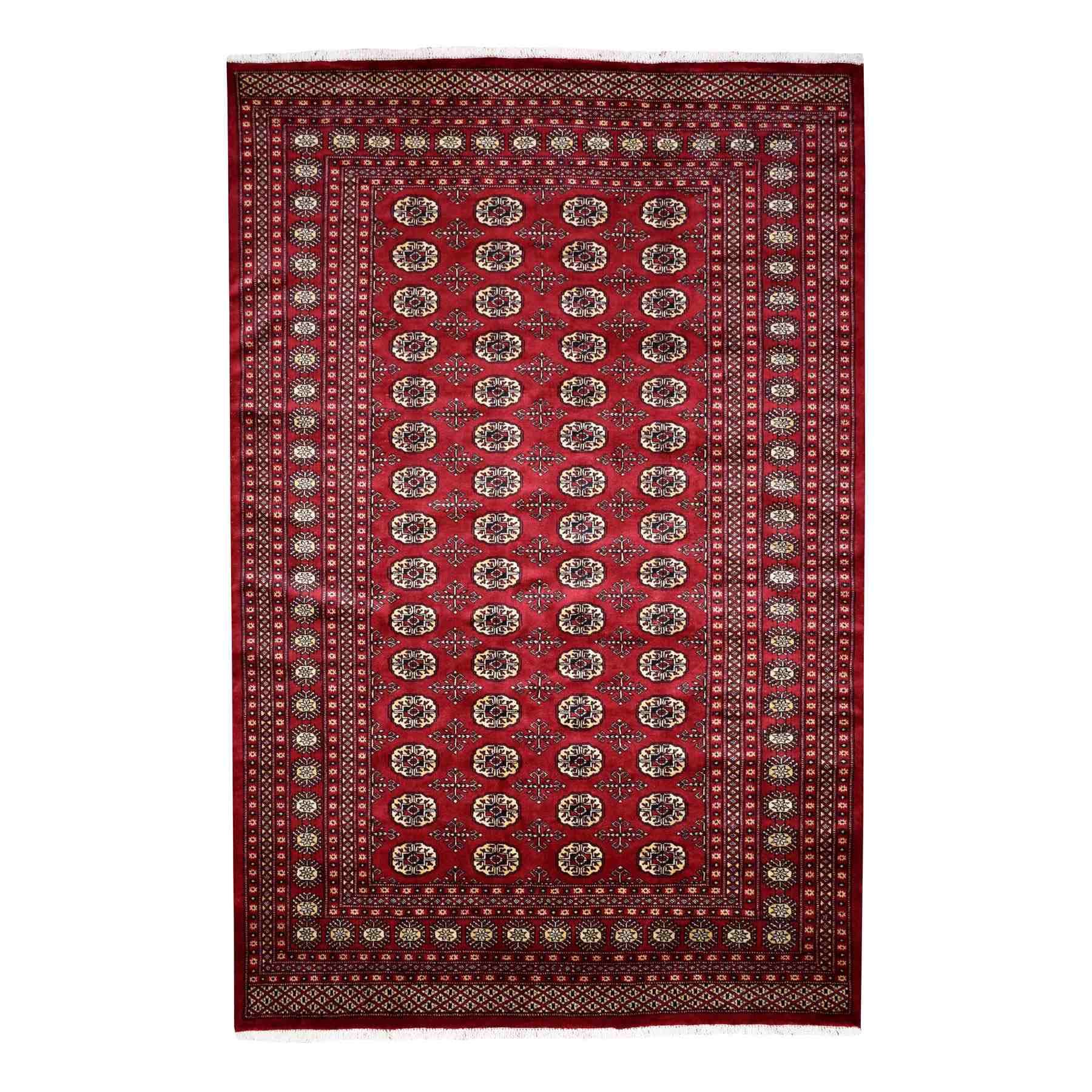 Nomadic And Village Collection Hand Knotted Red Rug No: 01110304