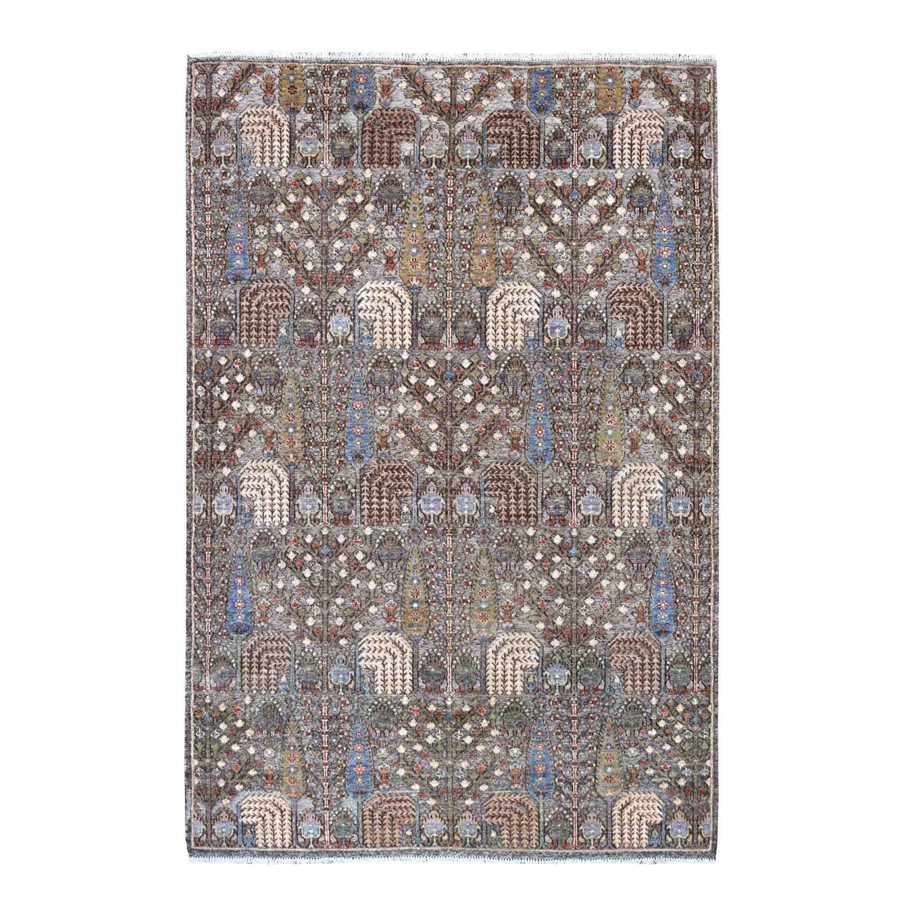 Transitional Hand Knotted Grey Rug No: 01110306