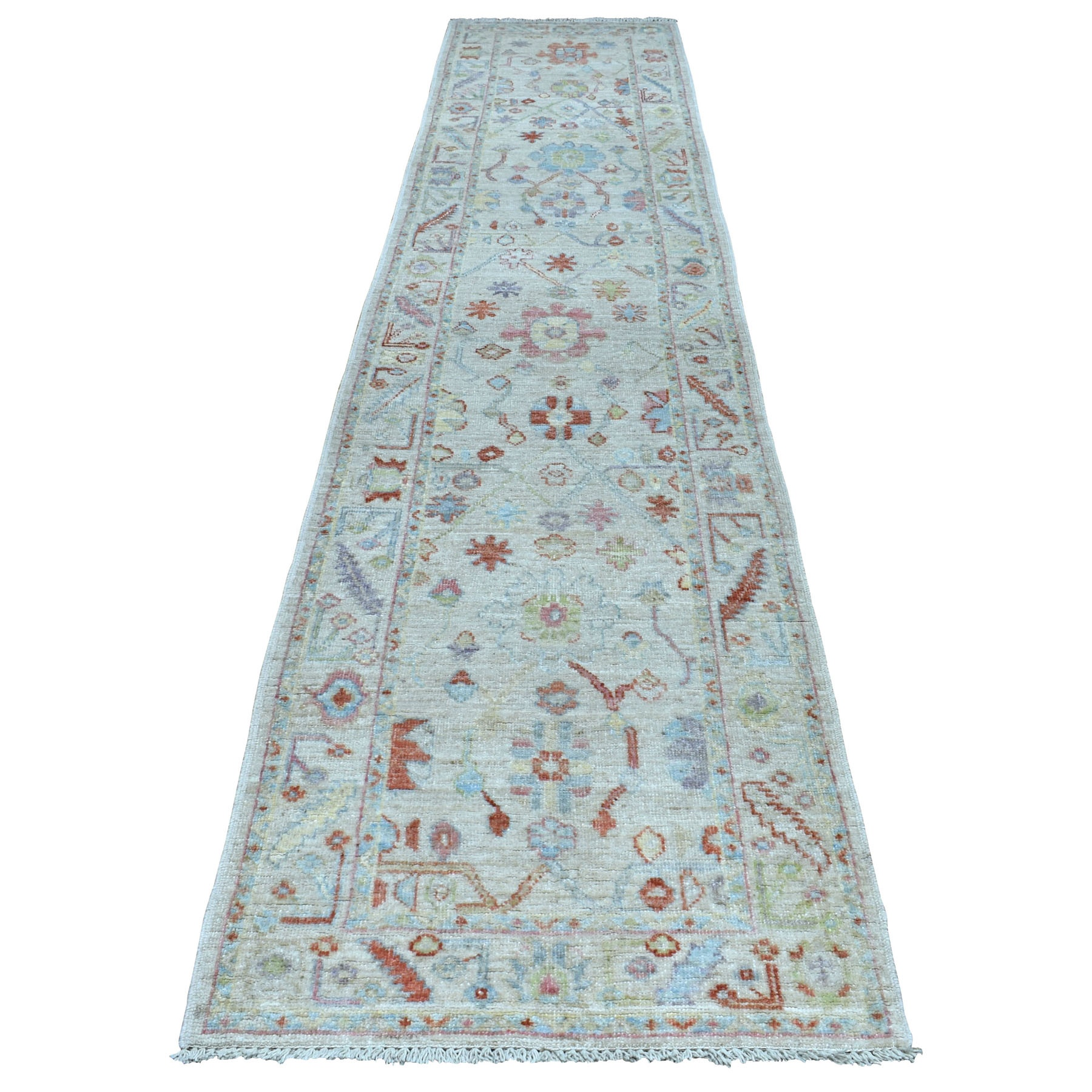 Agra And Turkish Collection Hand Knotted Grey Rug No: 01108858