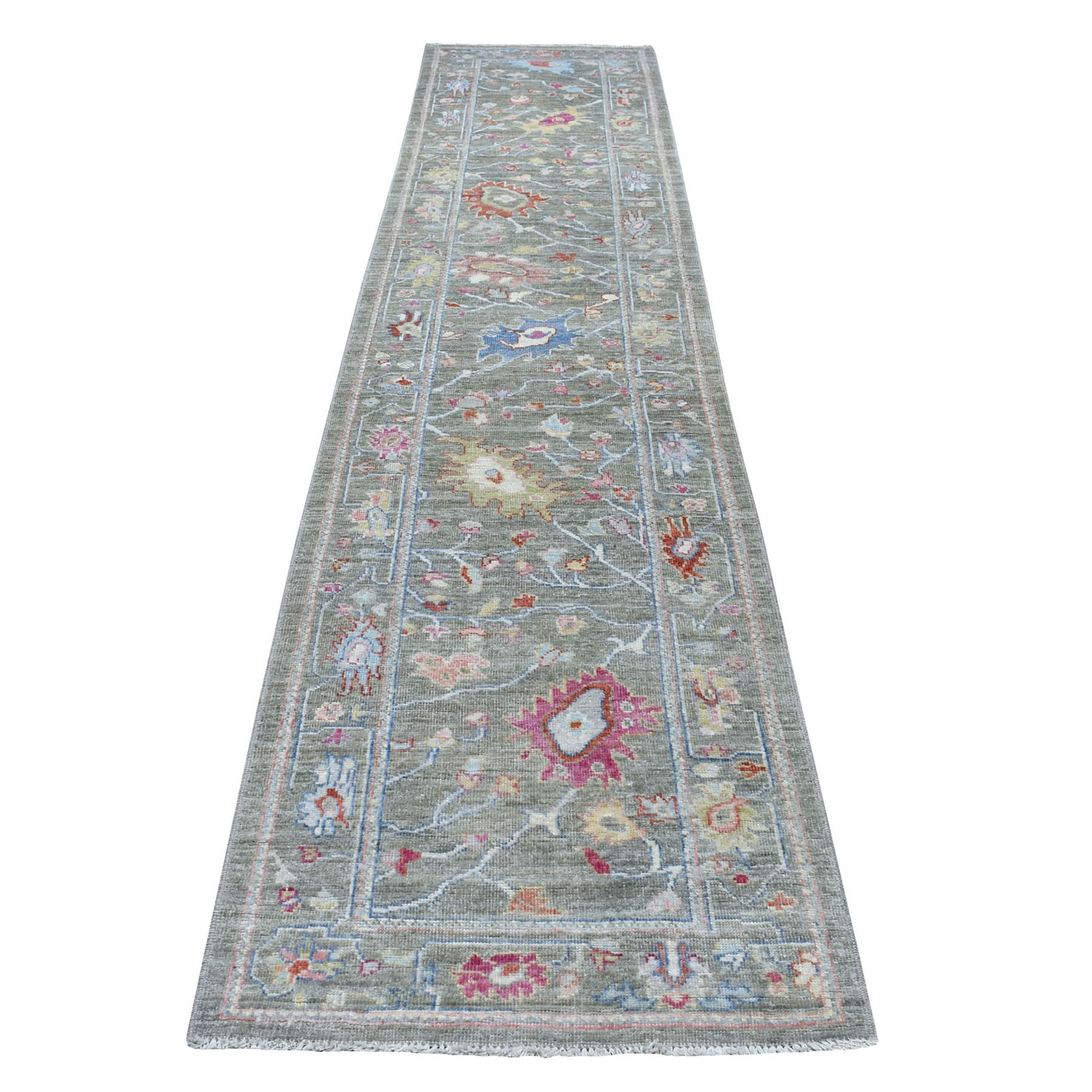 Agra And Turkish Collection Hand Knotted Grey Rug No: 01109042