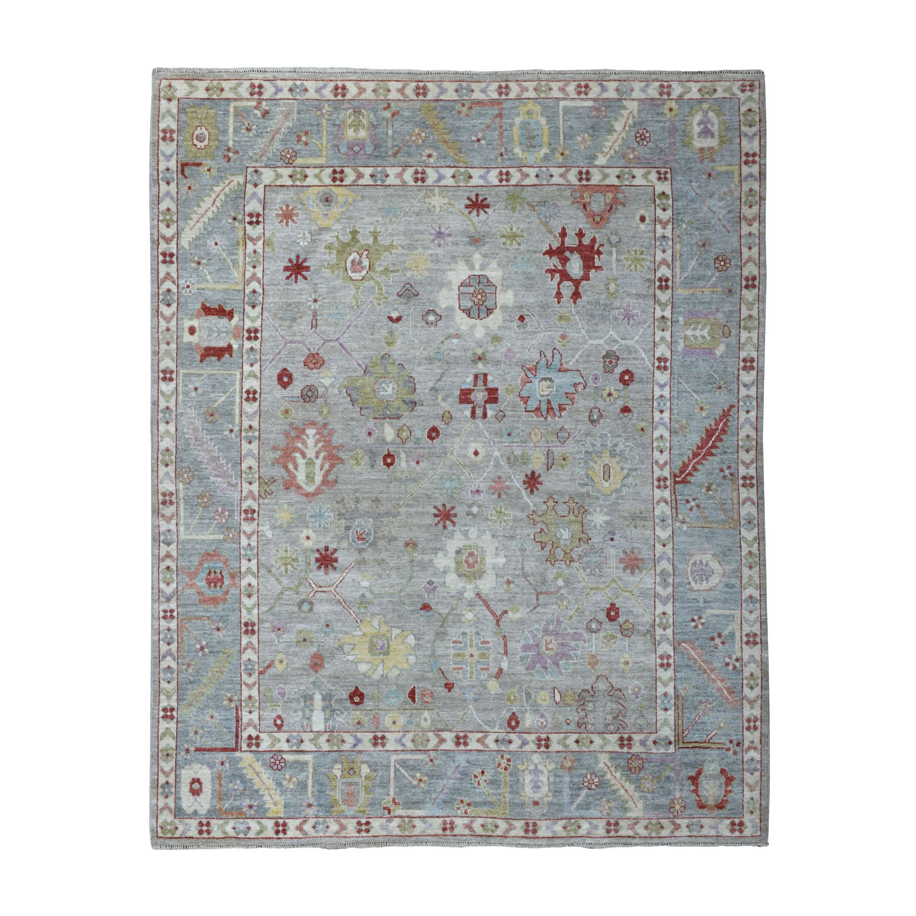 Agra And Turkish Collection Hand Knotted Grey Rug No: 1108972