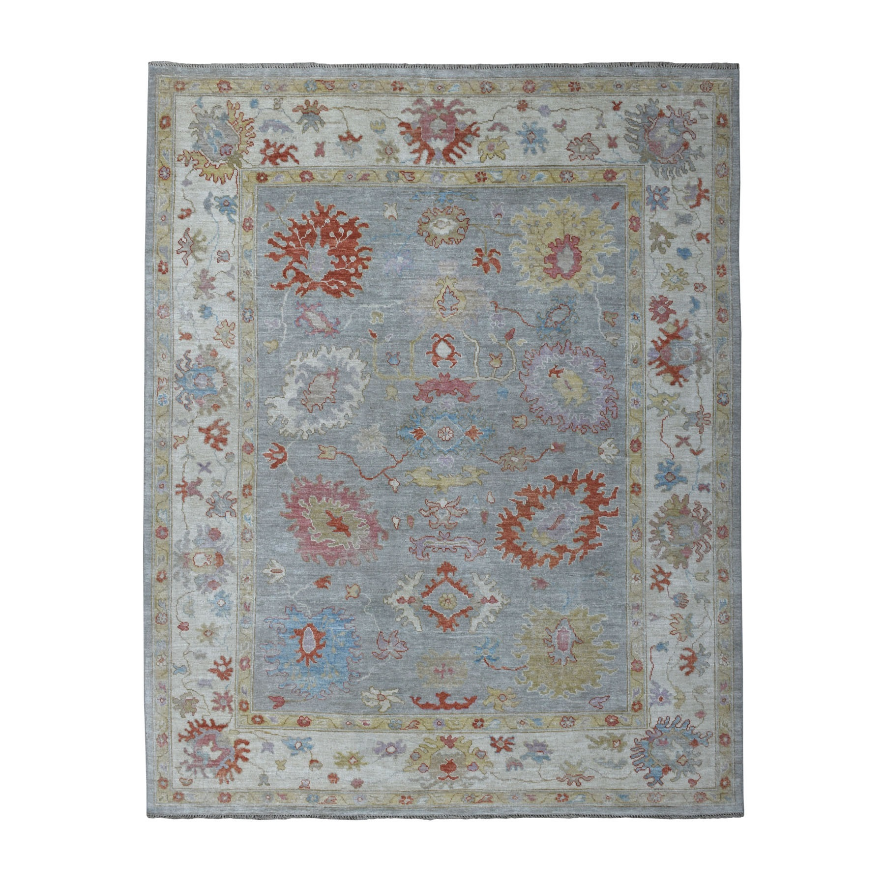 Agra And Turkish Collection Hand Knotted Grey Rug No: 1108974