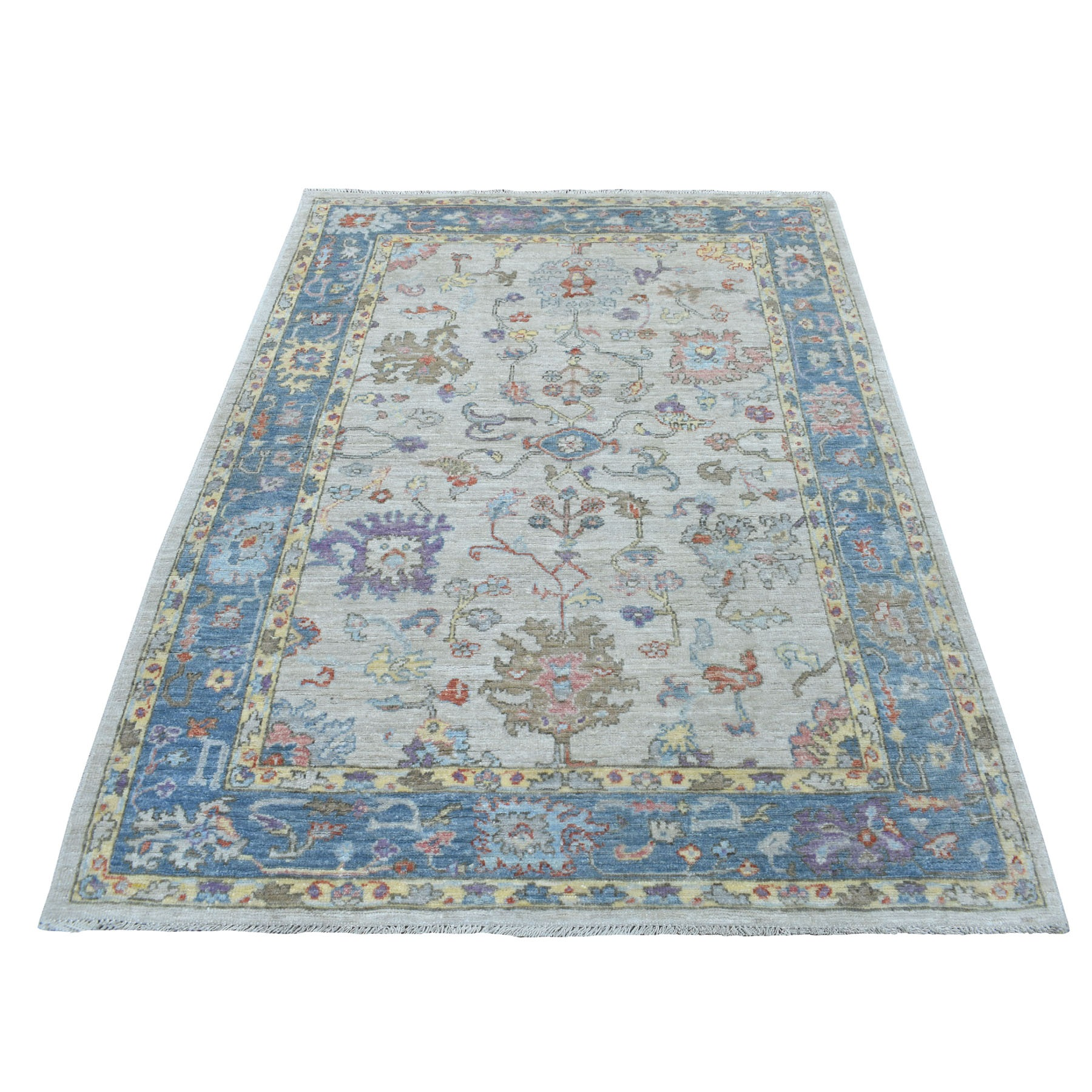 Agra And Turkish Collection Hand Knotted Grey Rug No: 1109002