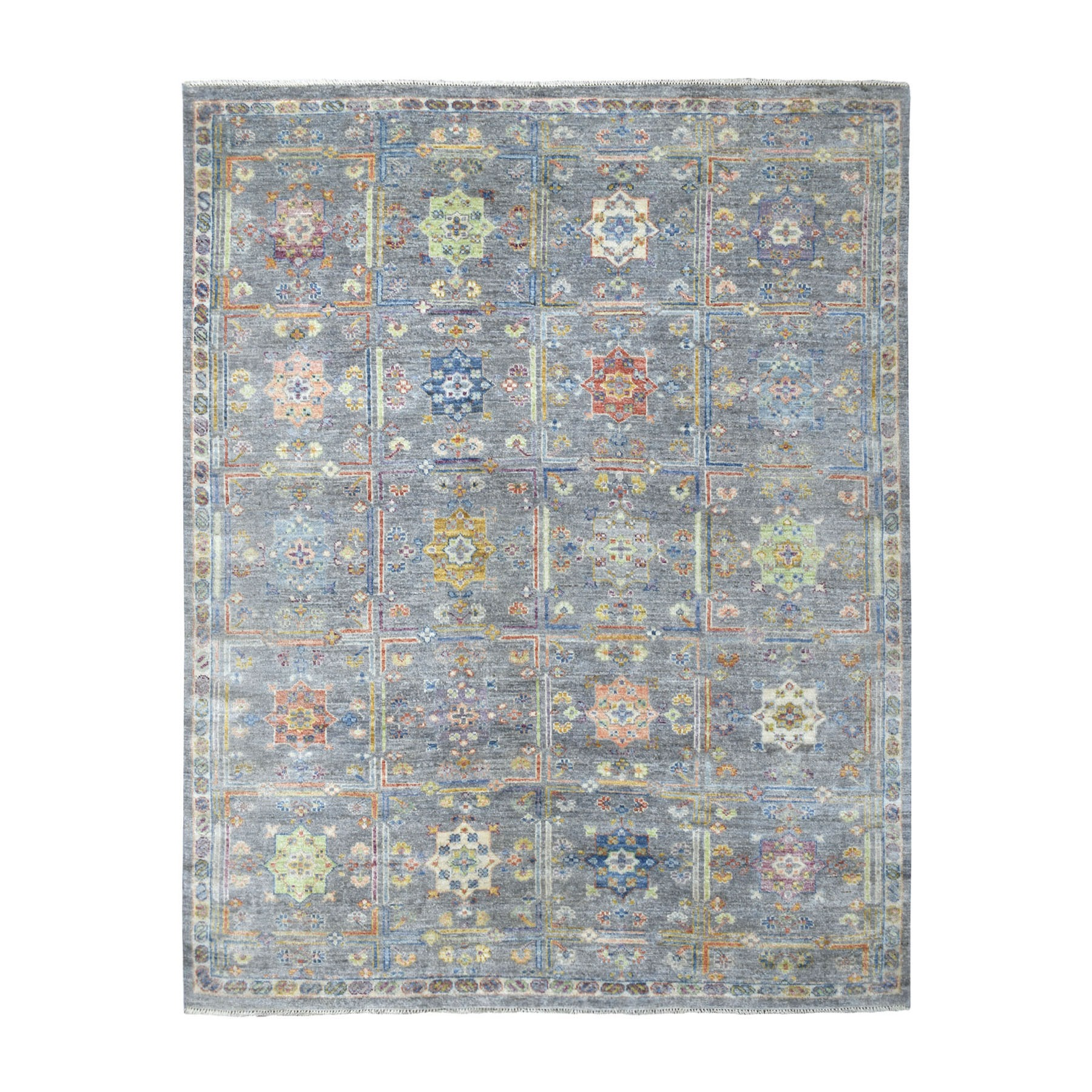 Nomadic And Village Collection Hand Knotted Grey Rug No: 1109160
