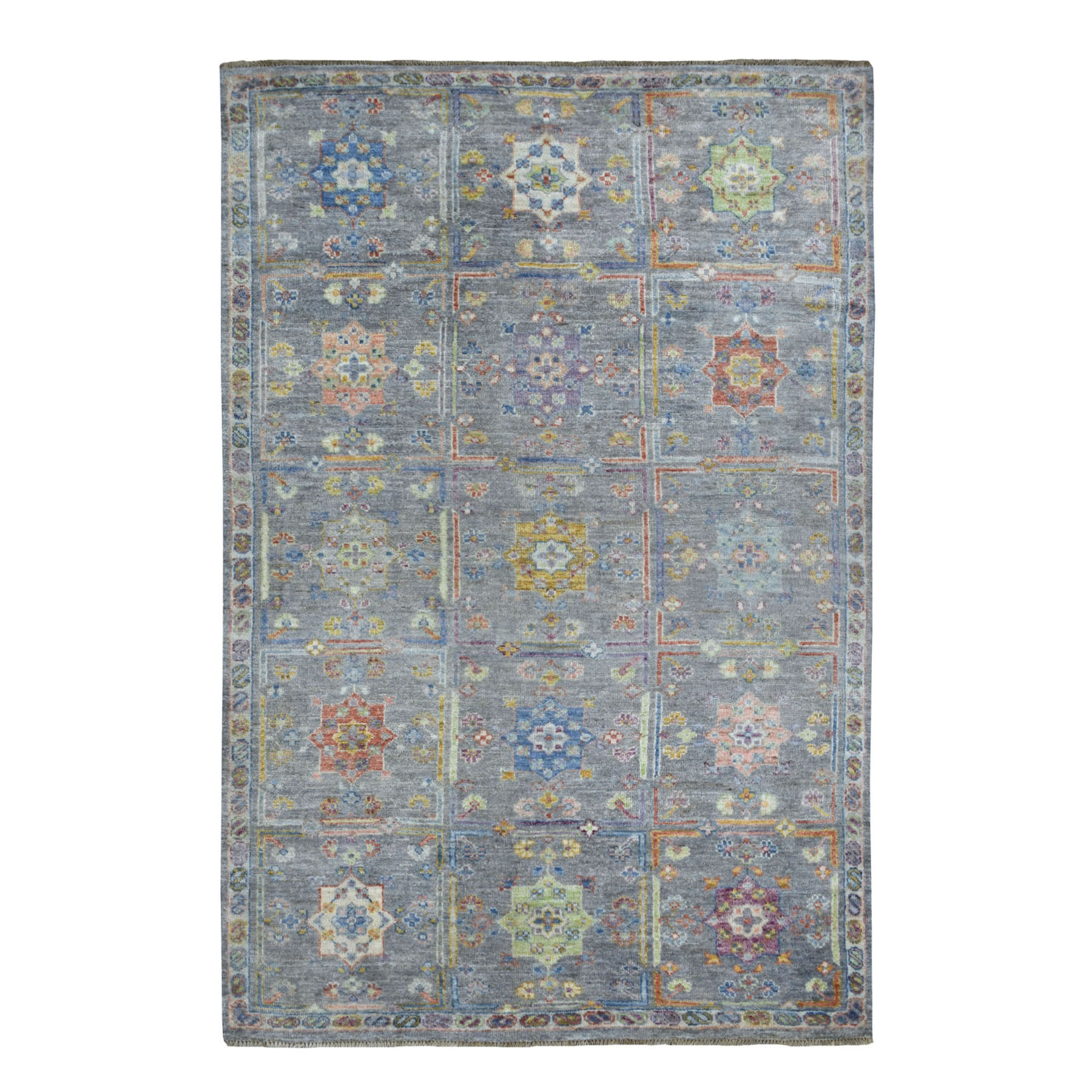 Nomadic And Village Collection Hand Knotted Grey Rug No: 01109164