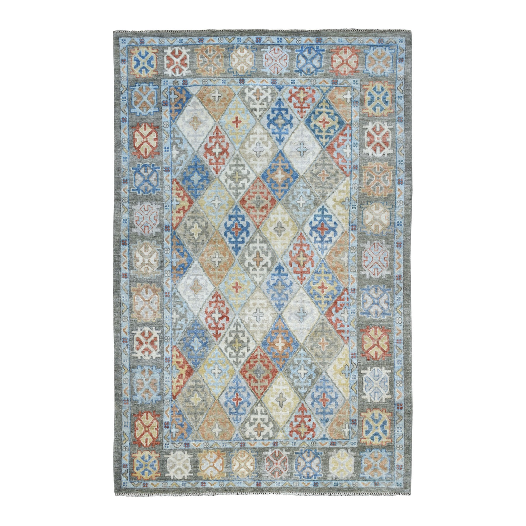 Nomadic And Village Collection Hand Knotted Grey Rug No: 01109166