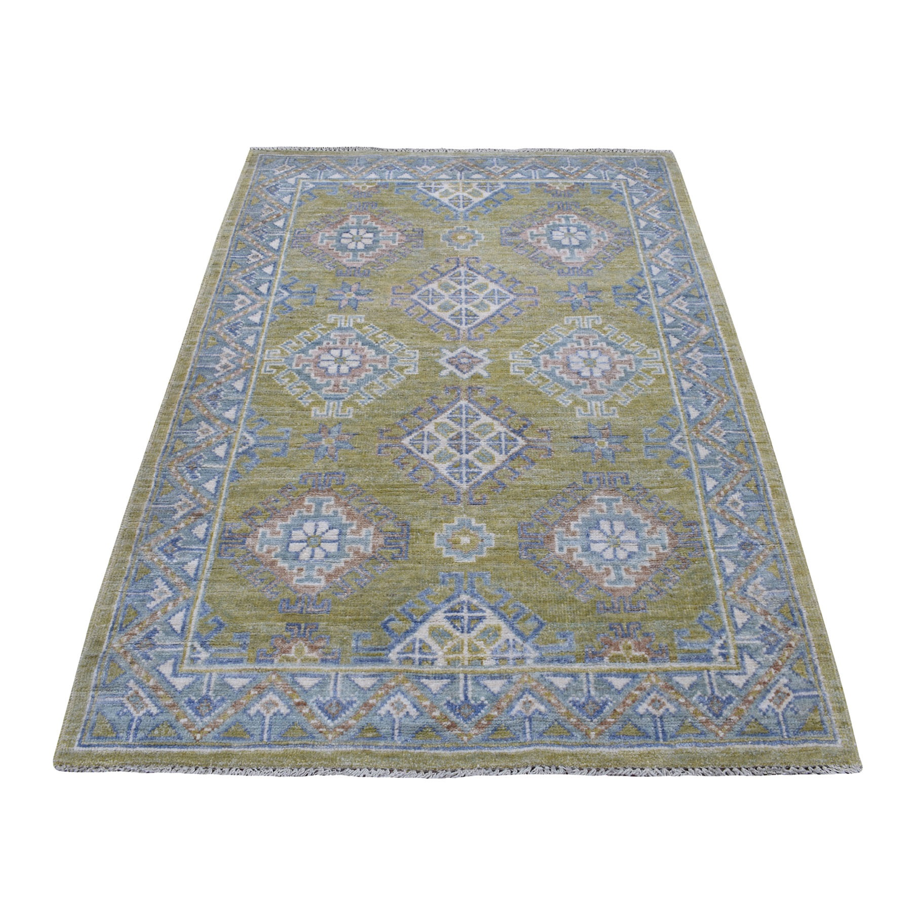 Nomadic And Village Collection Hand Knotted Yellow Rug No: 1109170