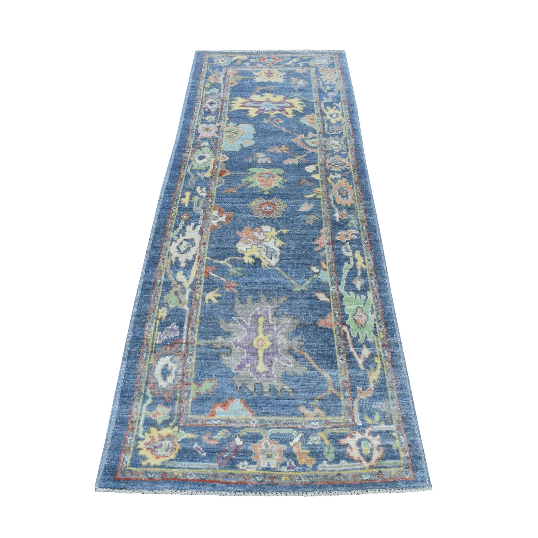 Agra And Turkish Collection Hand Knotted Blue Rug No: 01109120
