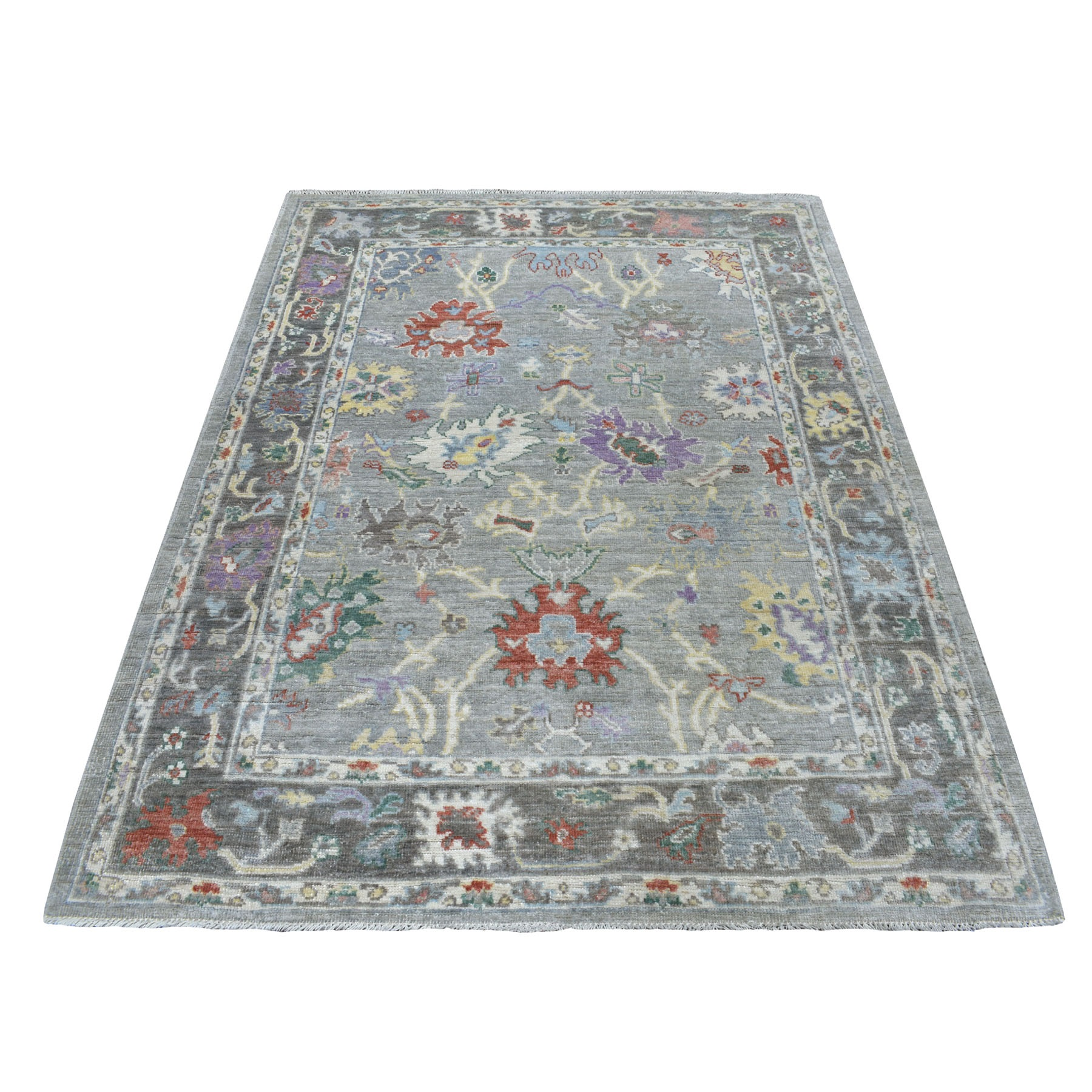 Agra And Turkish Collection Hand Knotted Grey Rug No: 1109428