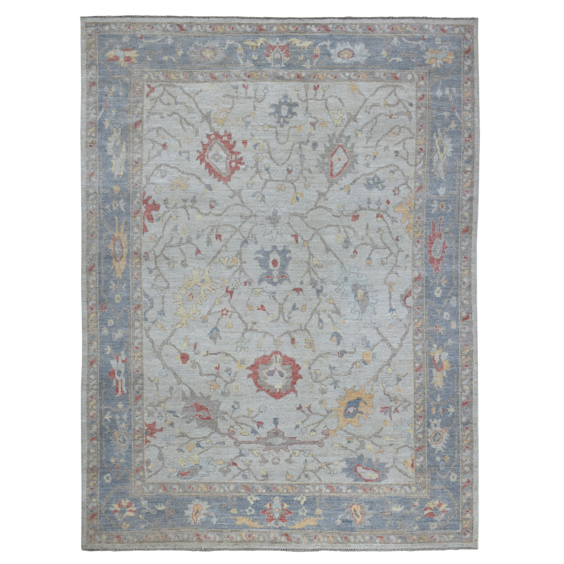 Agra And Turkish Collection Hand Knotted Ivory Rug No: 01109132