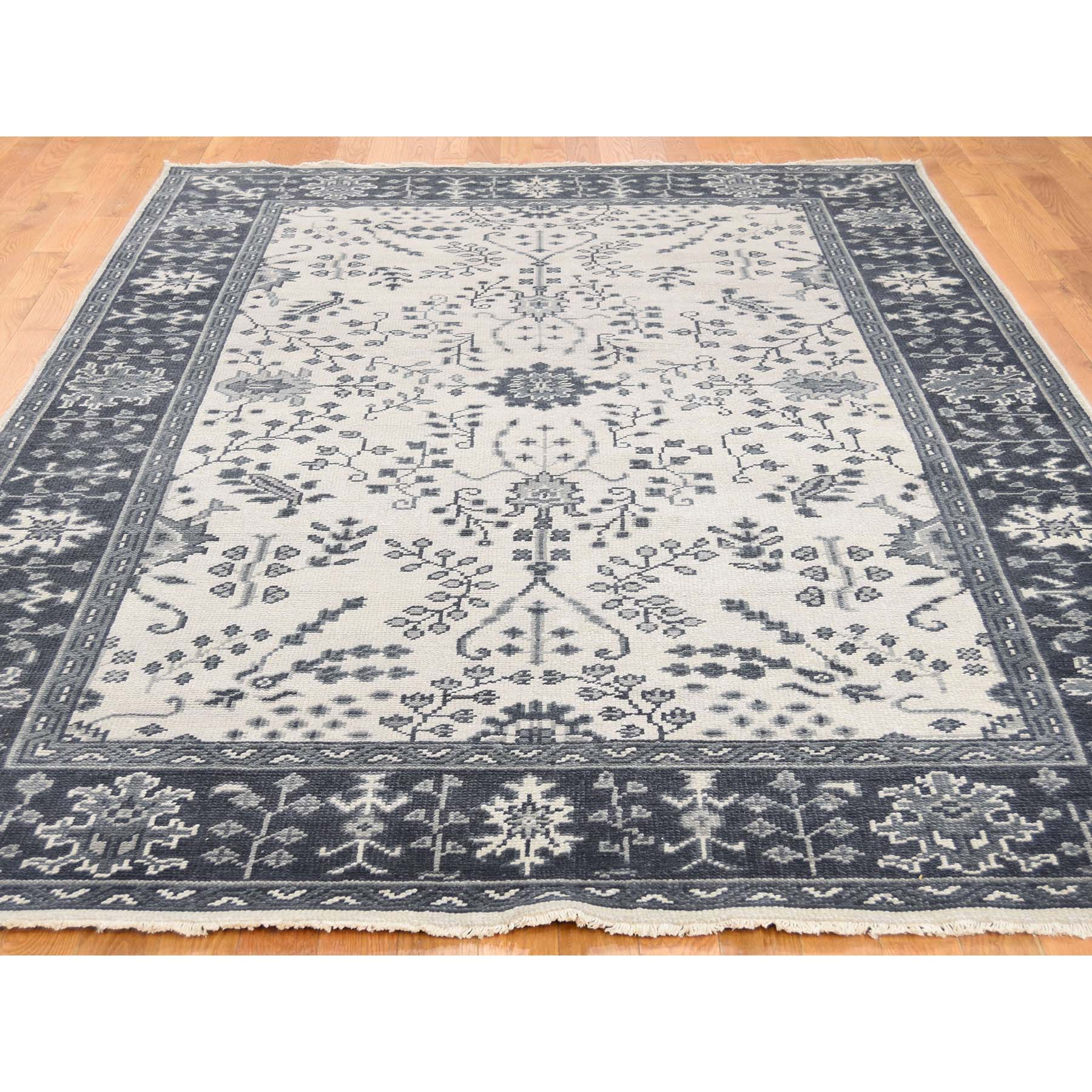 Agra And Turkish Collection Hand Knotted Ivory 0178108 Rug